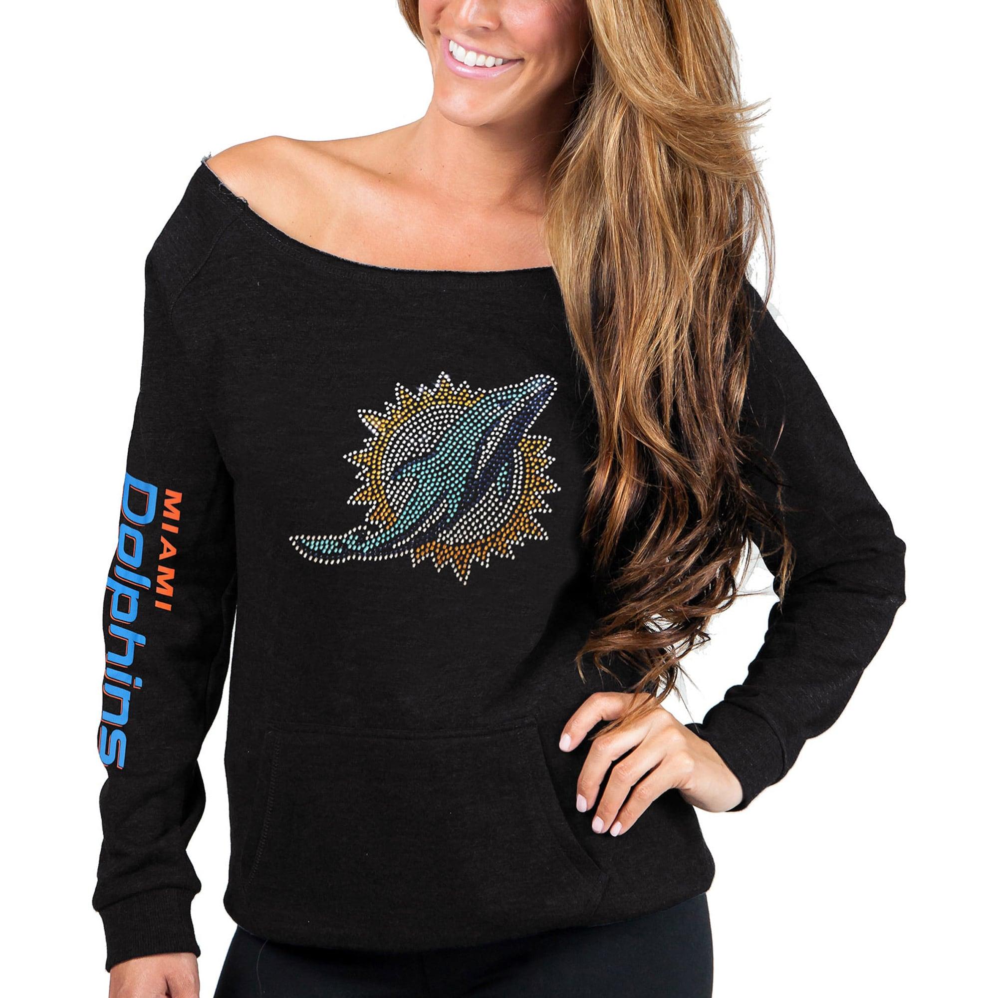 Miami Dolphins Cuce Women's Sideliner Sweatshirt - Black