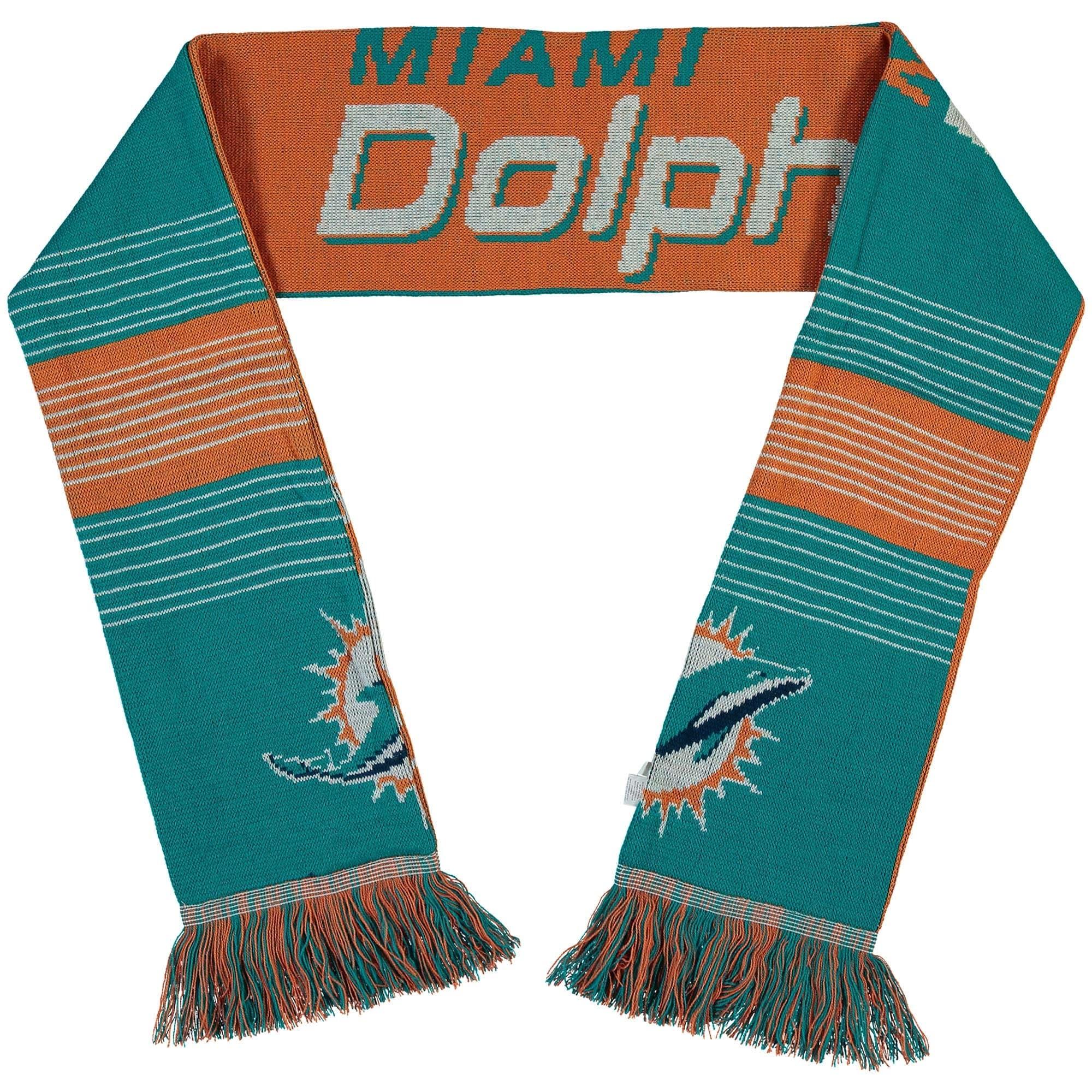 Miami Dolphins Split Logo Reversible Scarf