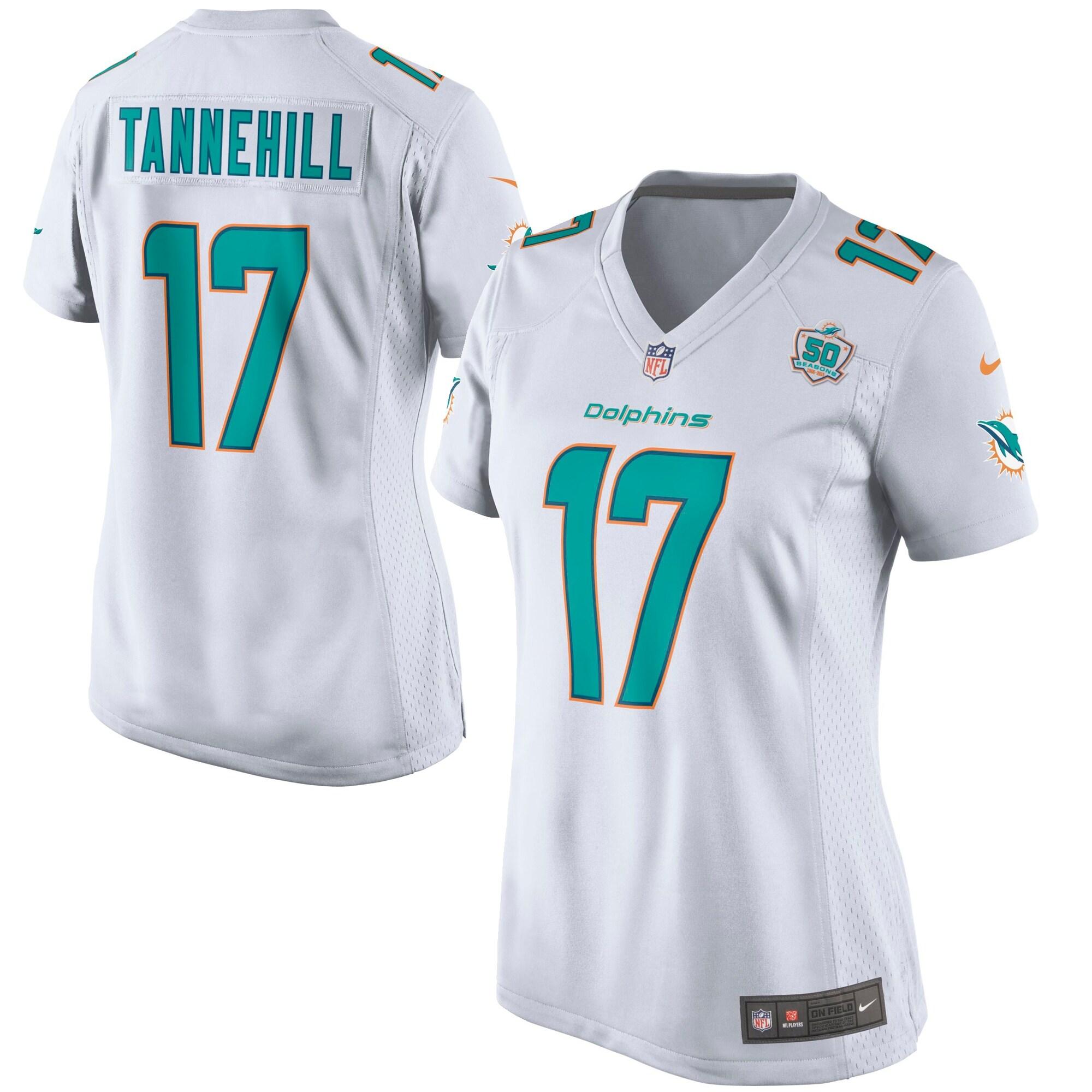 Ryan Tannehill Miami Dolphins Nike Women's White Game 2015 NFL Patch Jersey - White