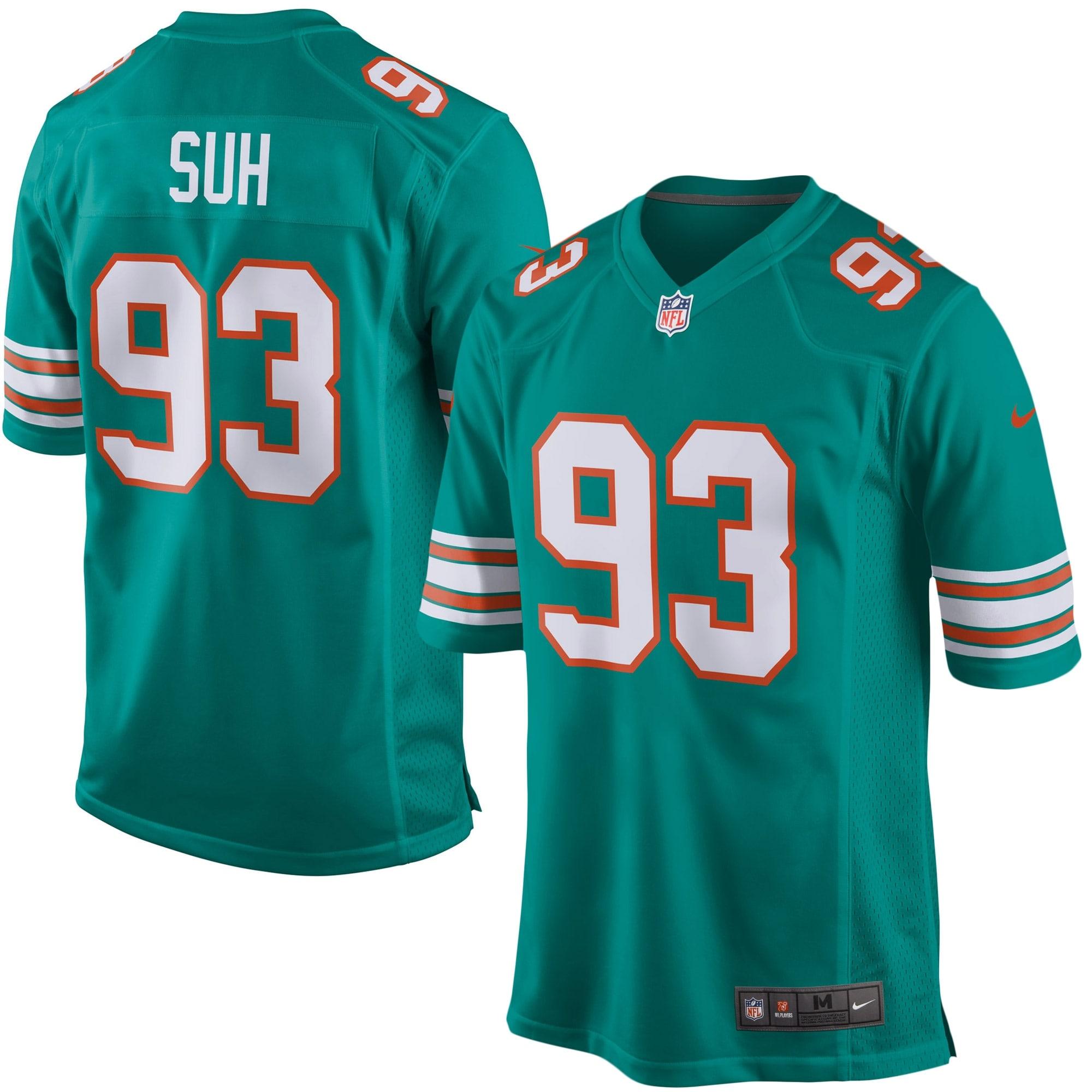 Ndamukong Suh Miami Dolphins Nike Alternate Game Jersey - Aqua