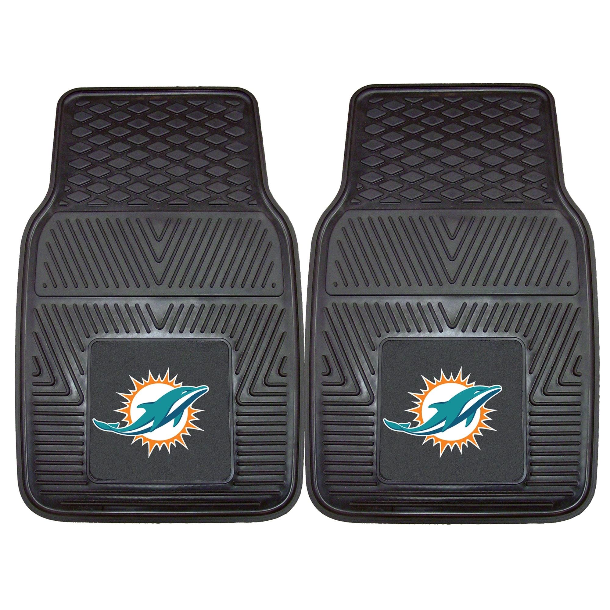 "Miami Dolphins 27"" x 18"" 2-Pack Vinyl Car Mat Set"