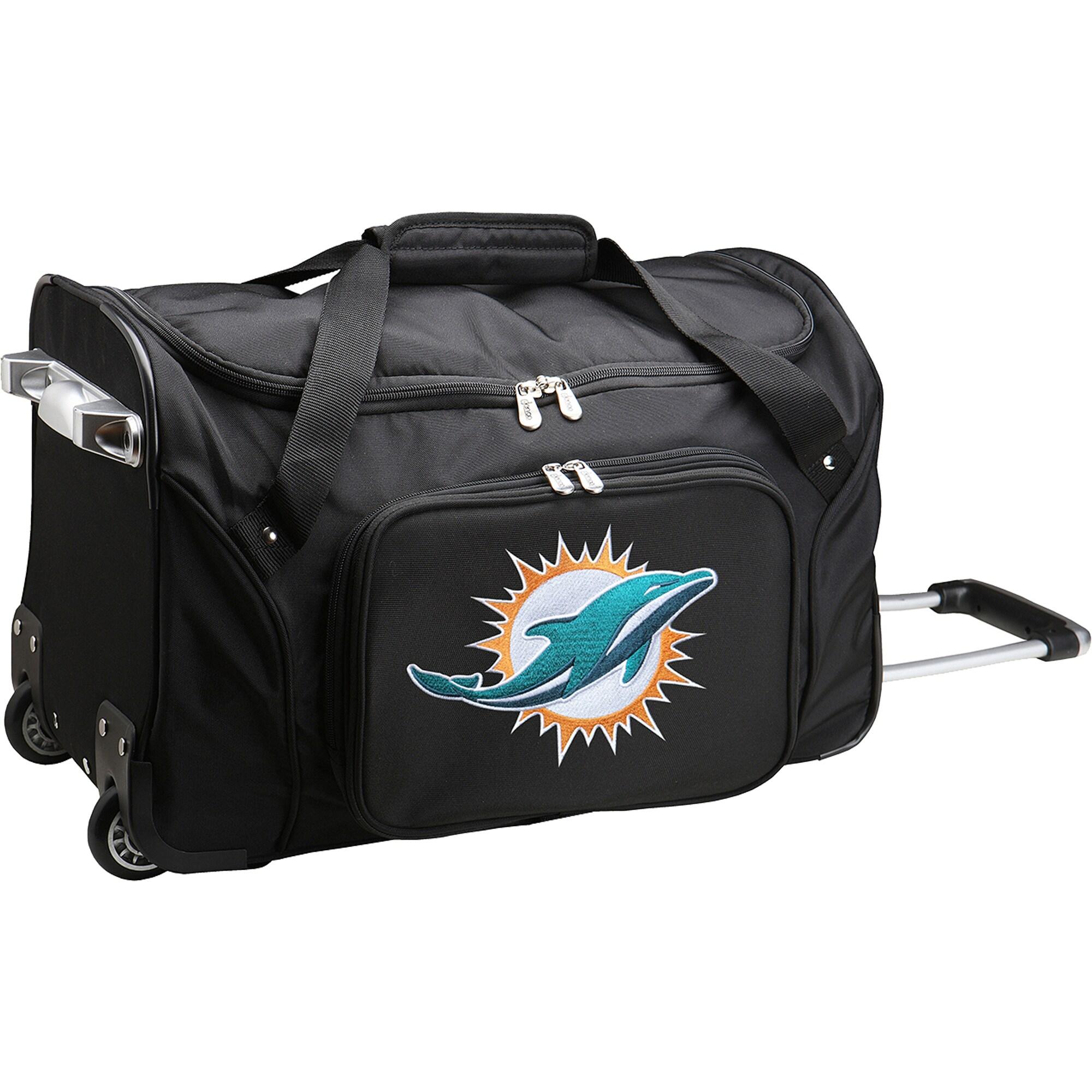 "Miami Dolphins 22"" 2-Wheeled Duffel Bag - Black"