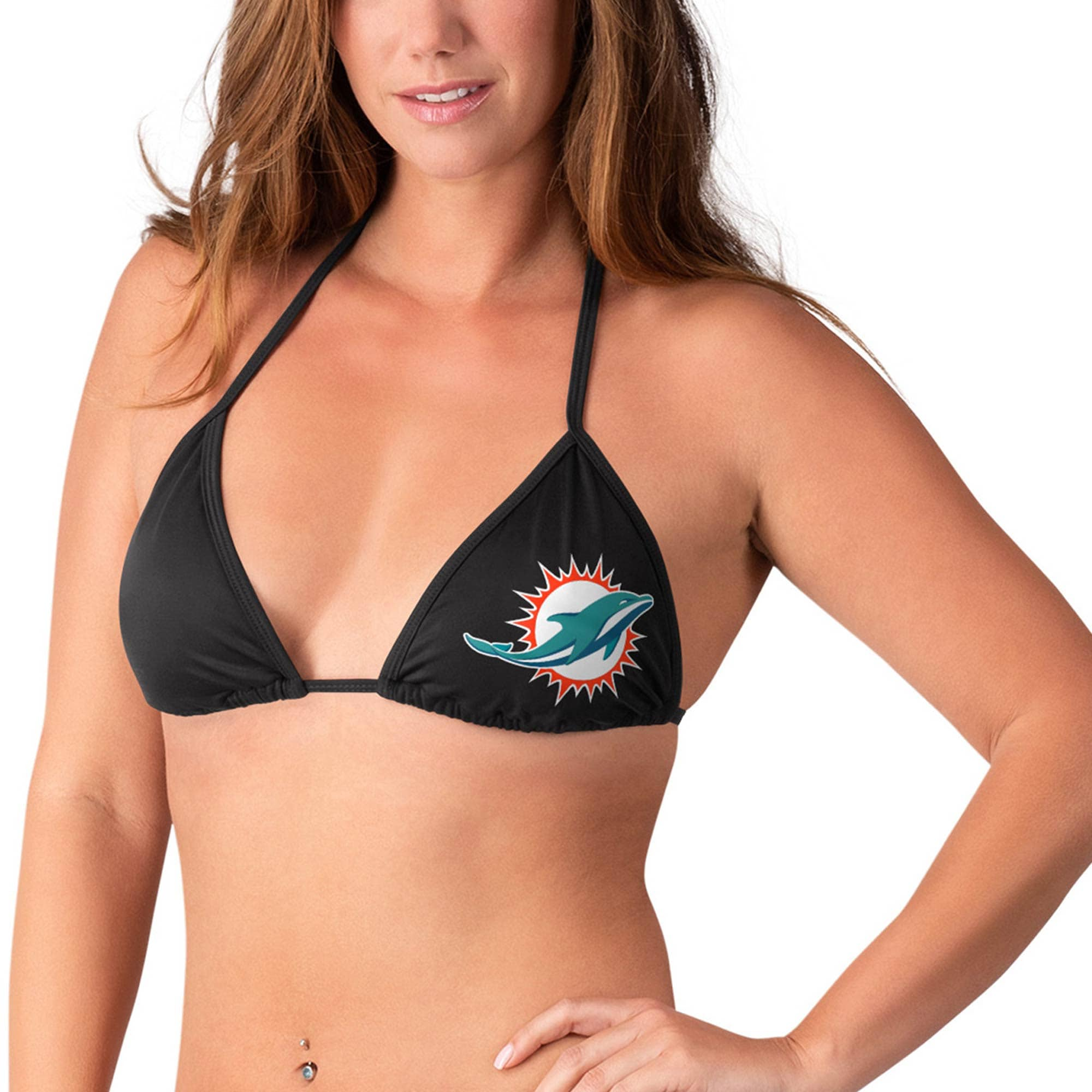 Miami Dolphins G-III 4Her by Carl Banks Women's Without Limits Bikini Top - Black