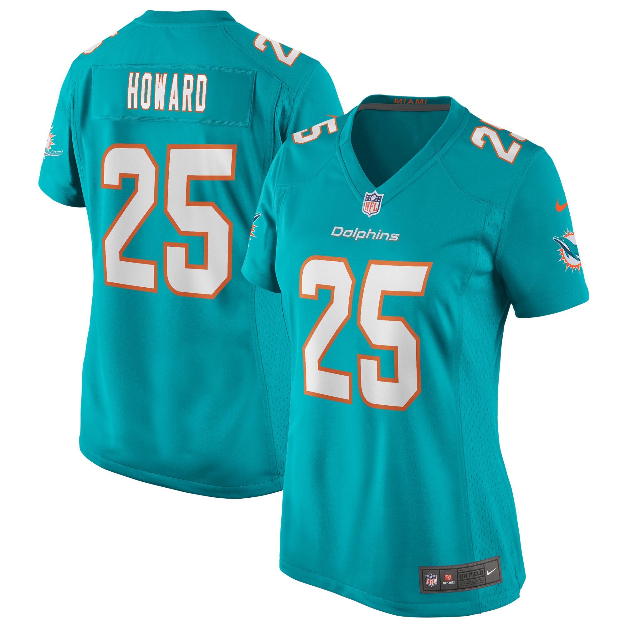 Xavien Howard Miami Dolphins Nike Women's Game Jersey - Aqua
