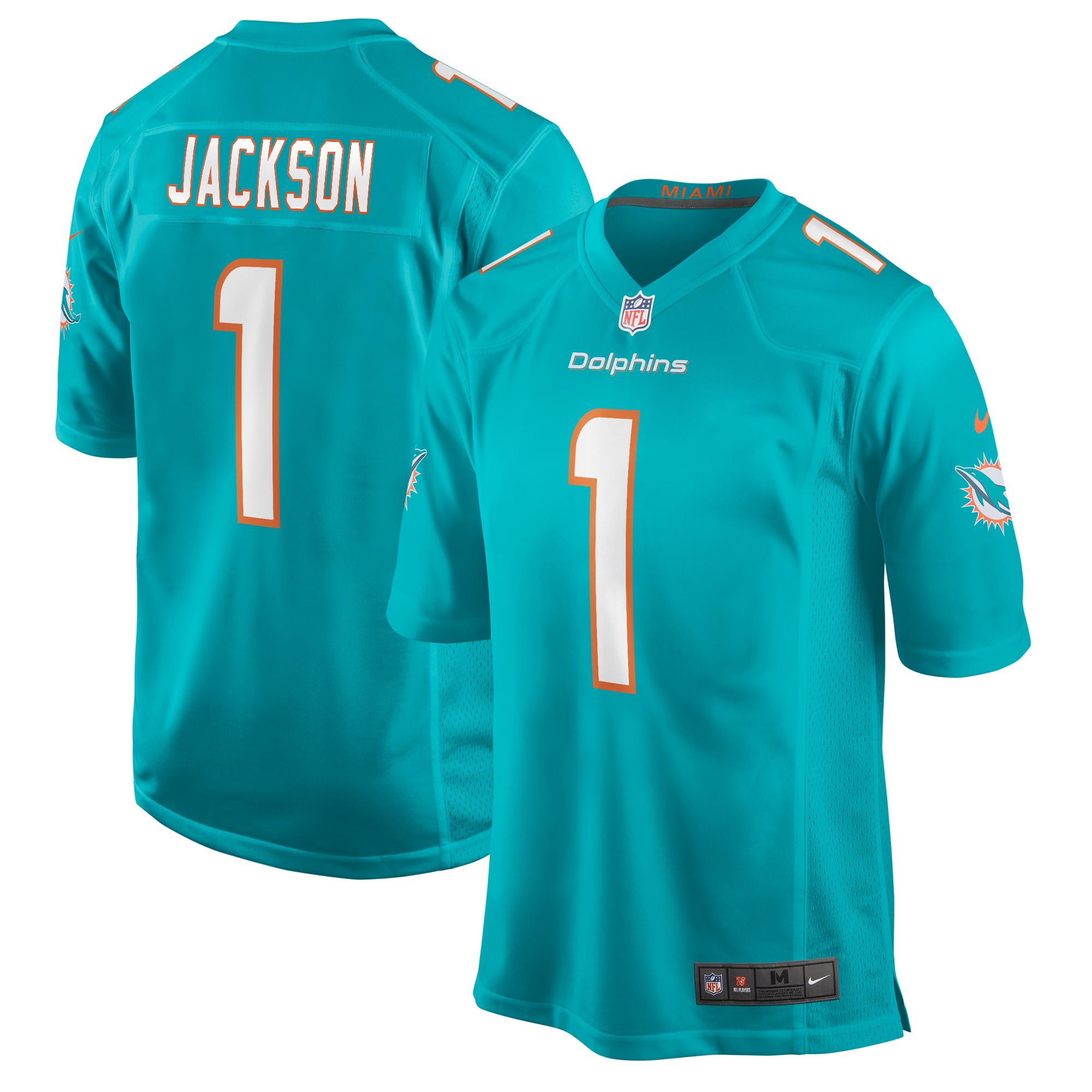 Austin Jackson Miami Dolphins Nike 2020 NFL Draft First Round Pick Game Jersey - Aqua