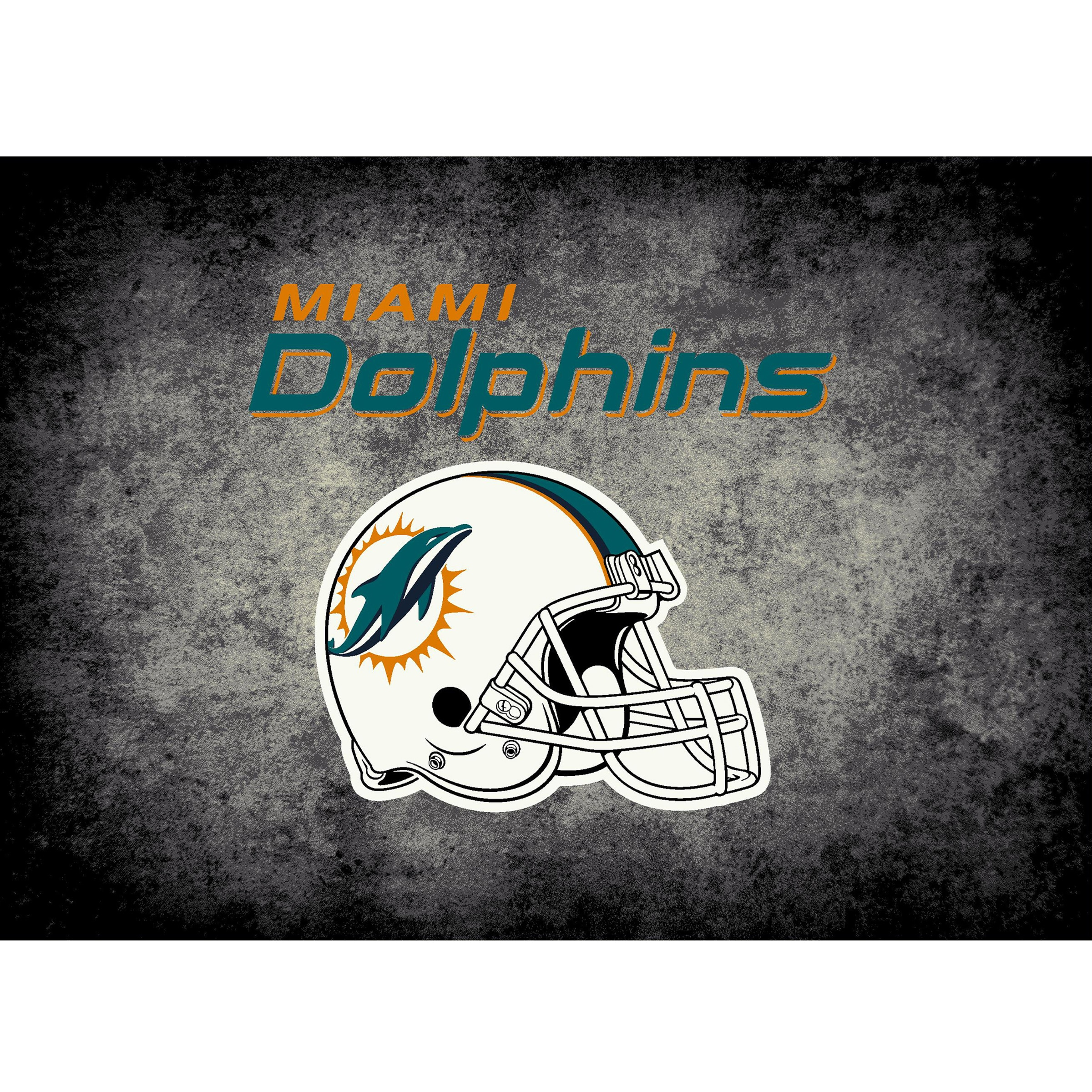Miami Dolphins Imperial 4' x 6' Distressed Rug