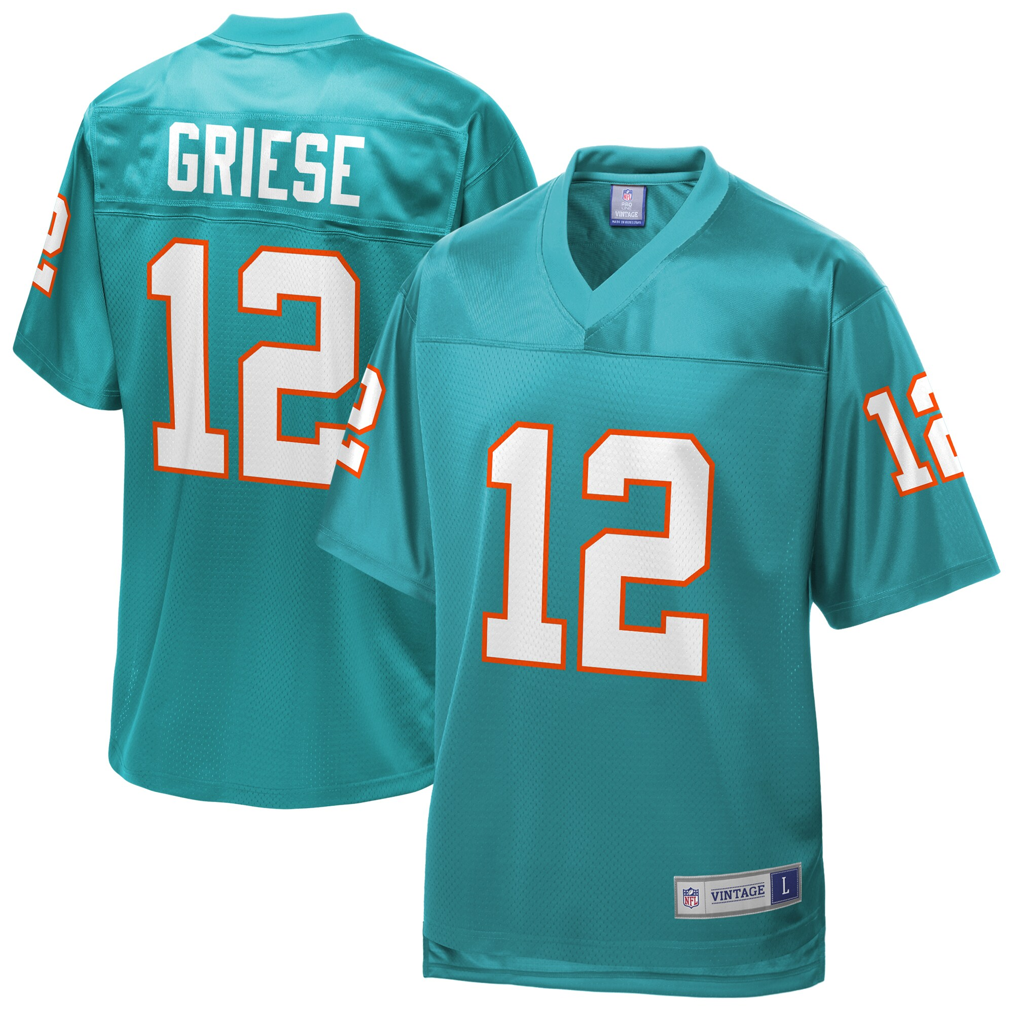 Bob Griese Miami Dolphins NFL Pro Line Retired Player Replica Jersey - Aqua