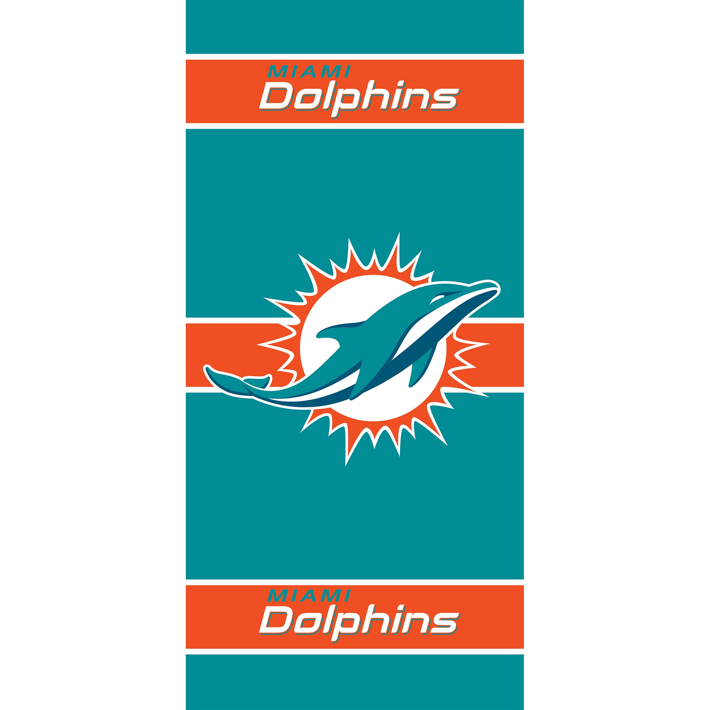 Miami Dolphins Imperial 36'' x 80'' Front Door Cover