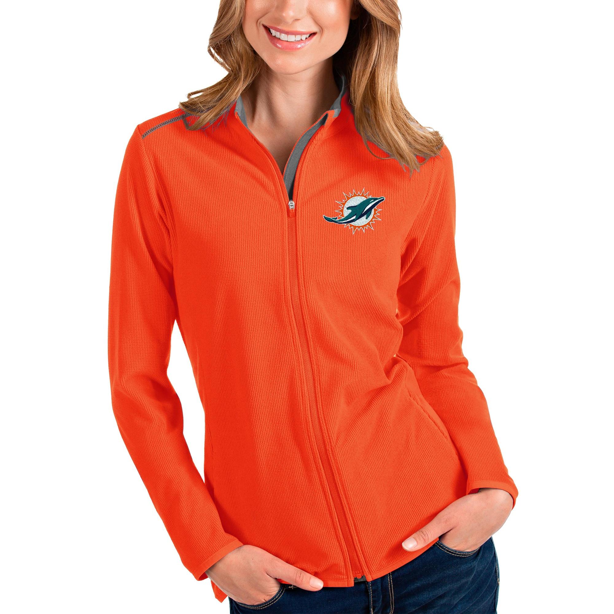 Miami Dolphins Antigua Women's Glacier Full-Zip Jacket - Orange