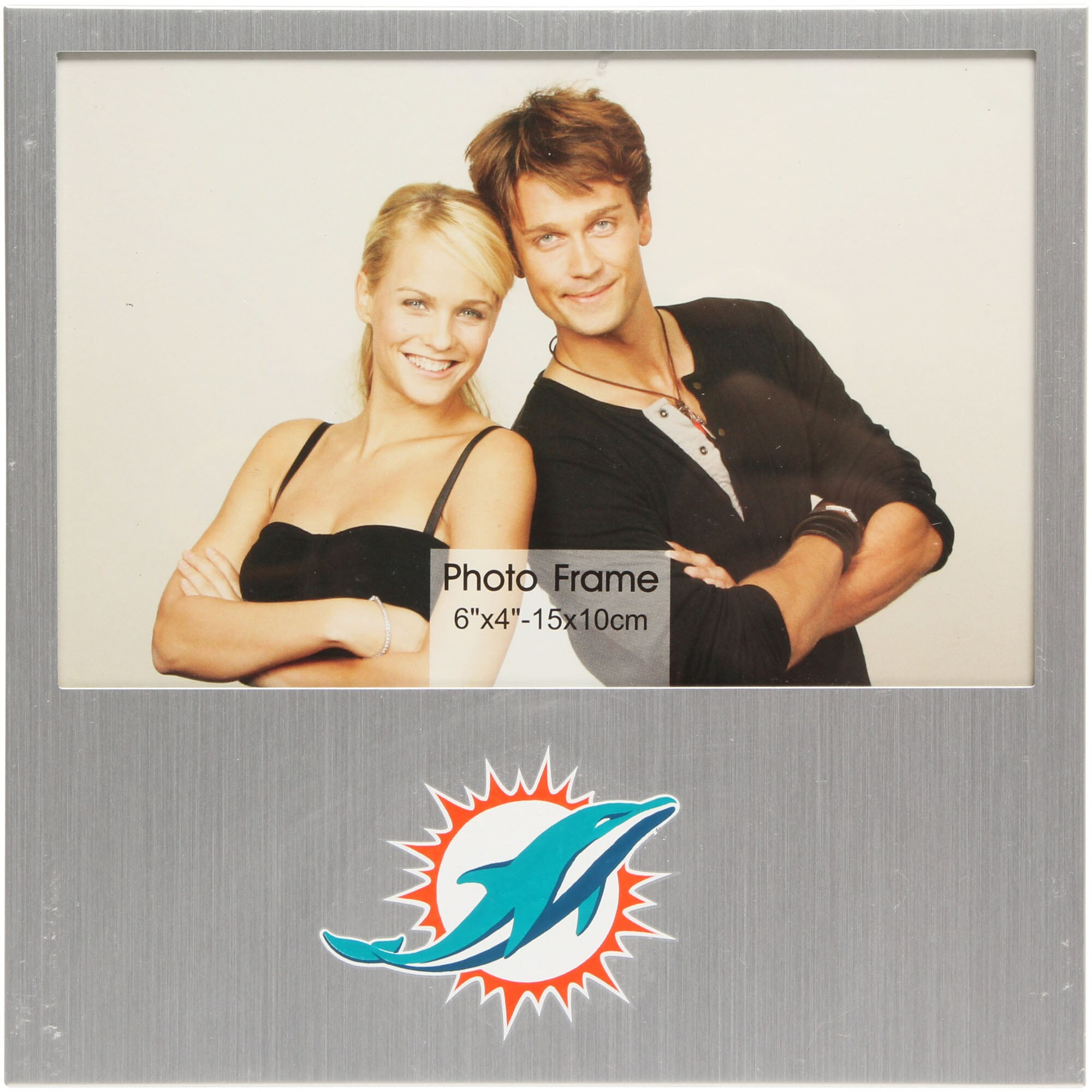 "Miami Dolphins 4"" x 6"" Aluminum Picture Frame"