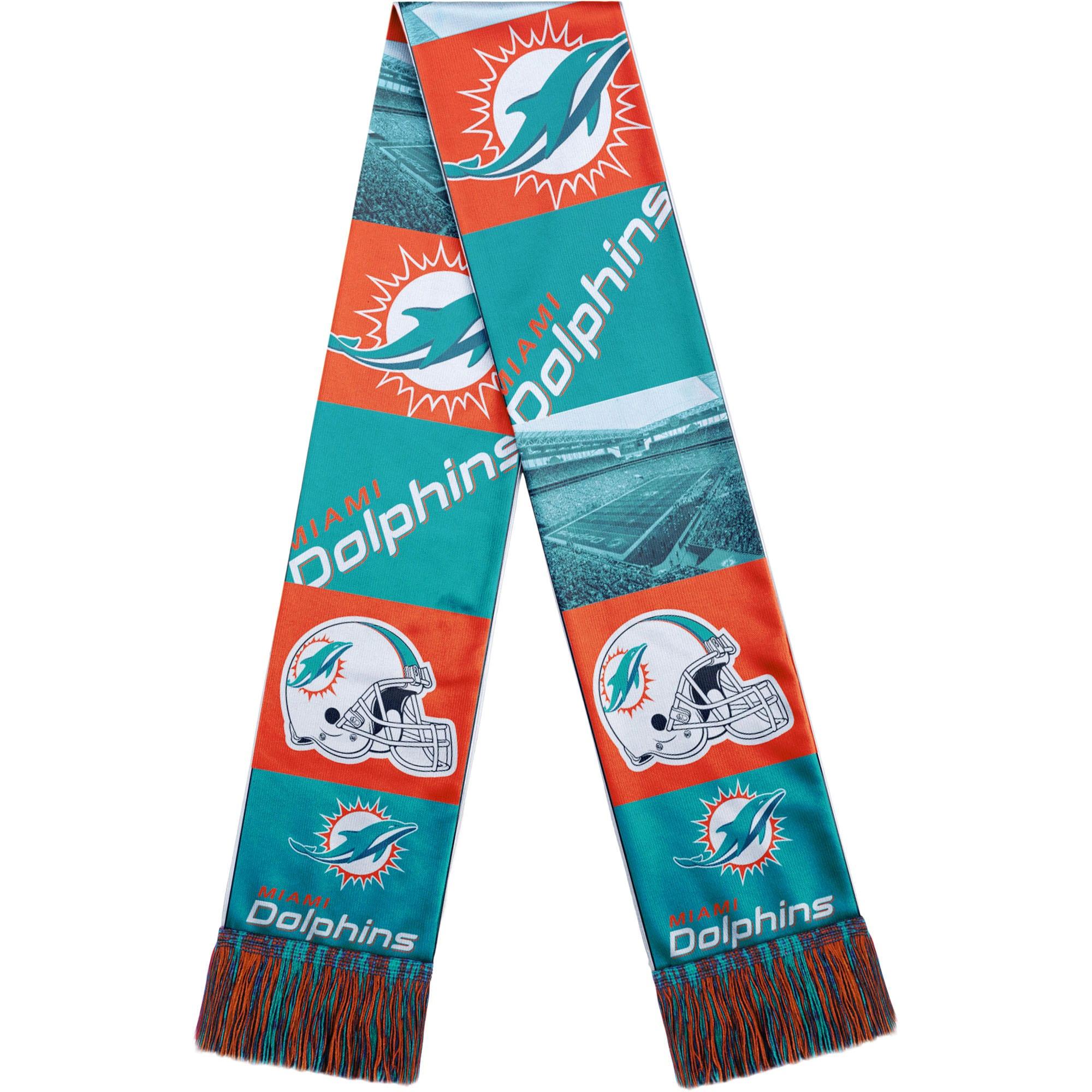 Miami Dolphins Bar Scarf - Aqua