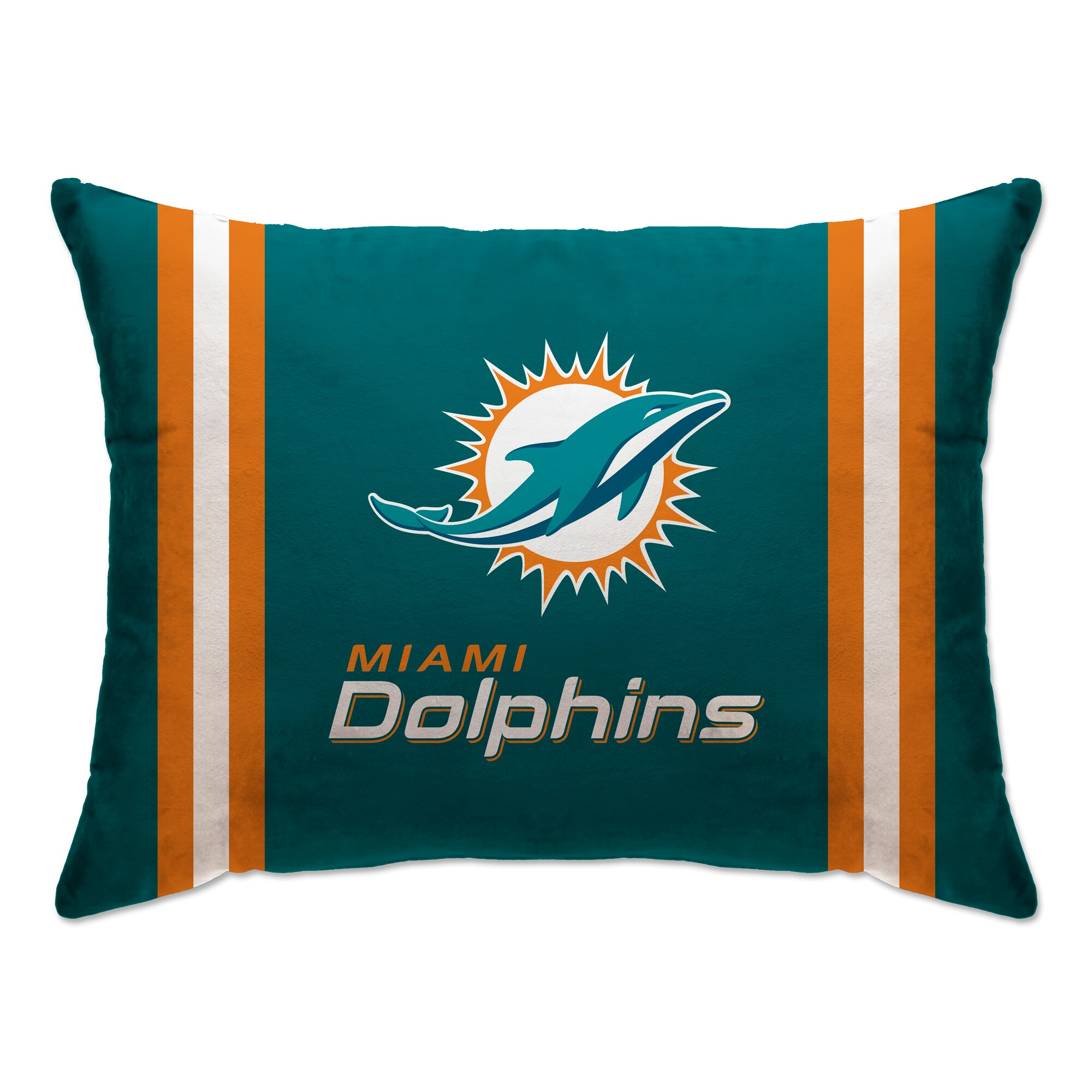 """Miami Dolphins 20"""" x 26"""" Plush Bed Pillow - Teal"""