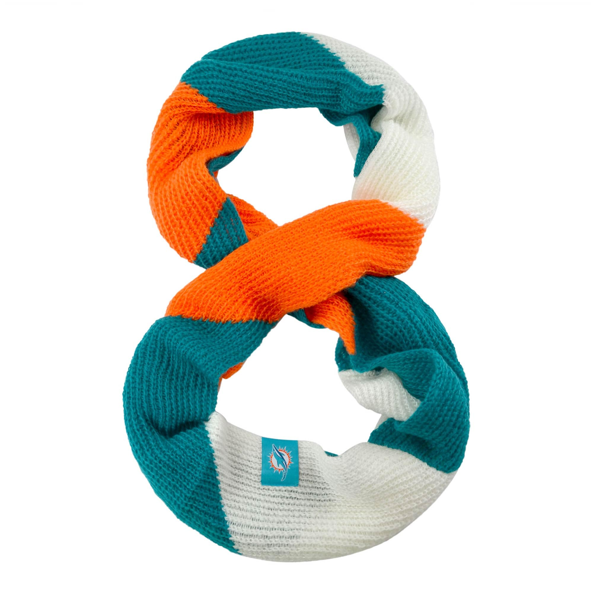 Miami Dolphins Women's Color Block Knit Infinity Scarf
