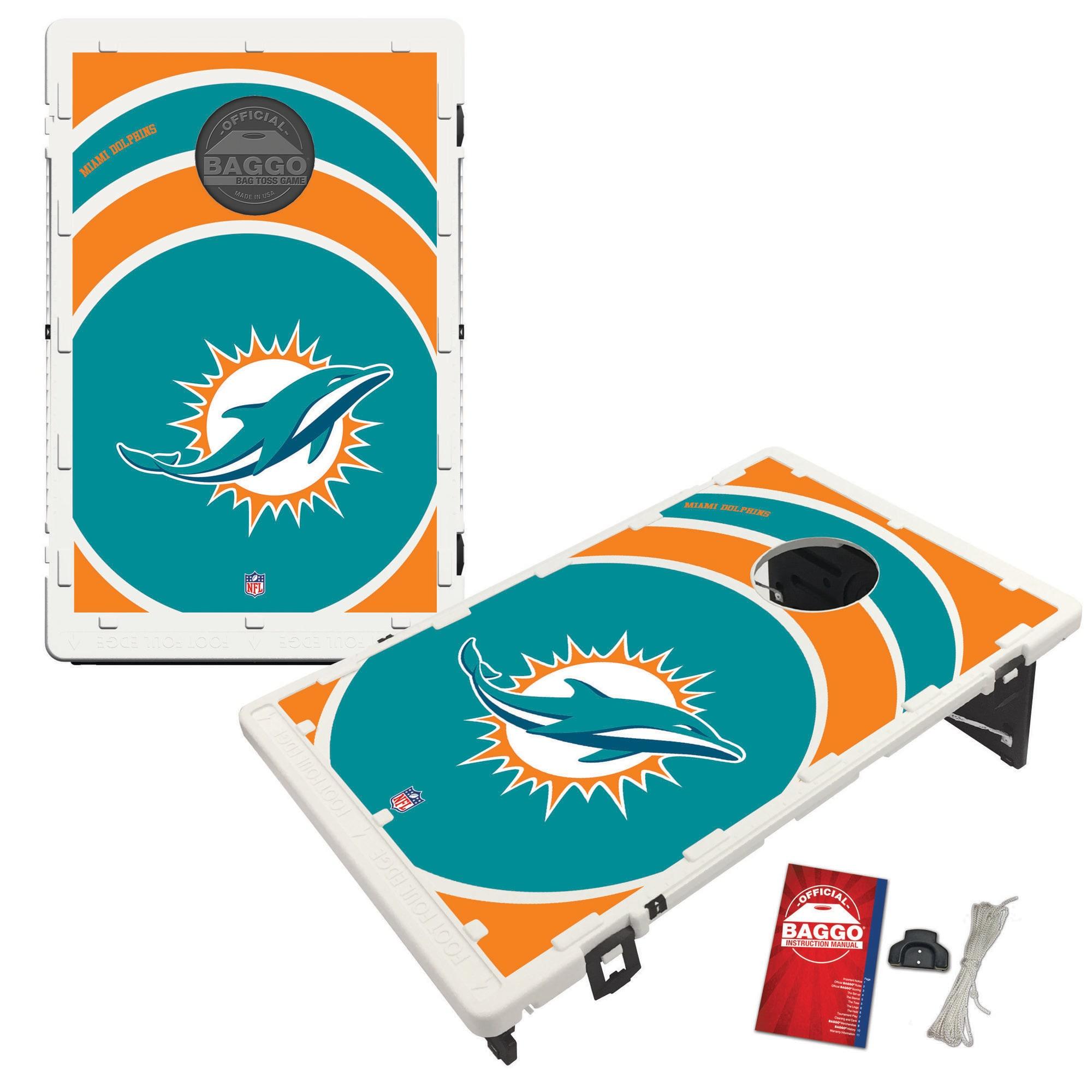 Miami Dolphins 2' x 3' BAGGO Vortex Cornhole Board Tailgate Toss Set