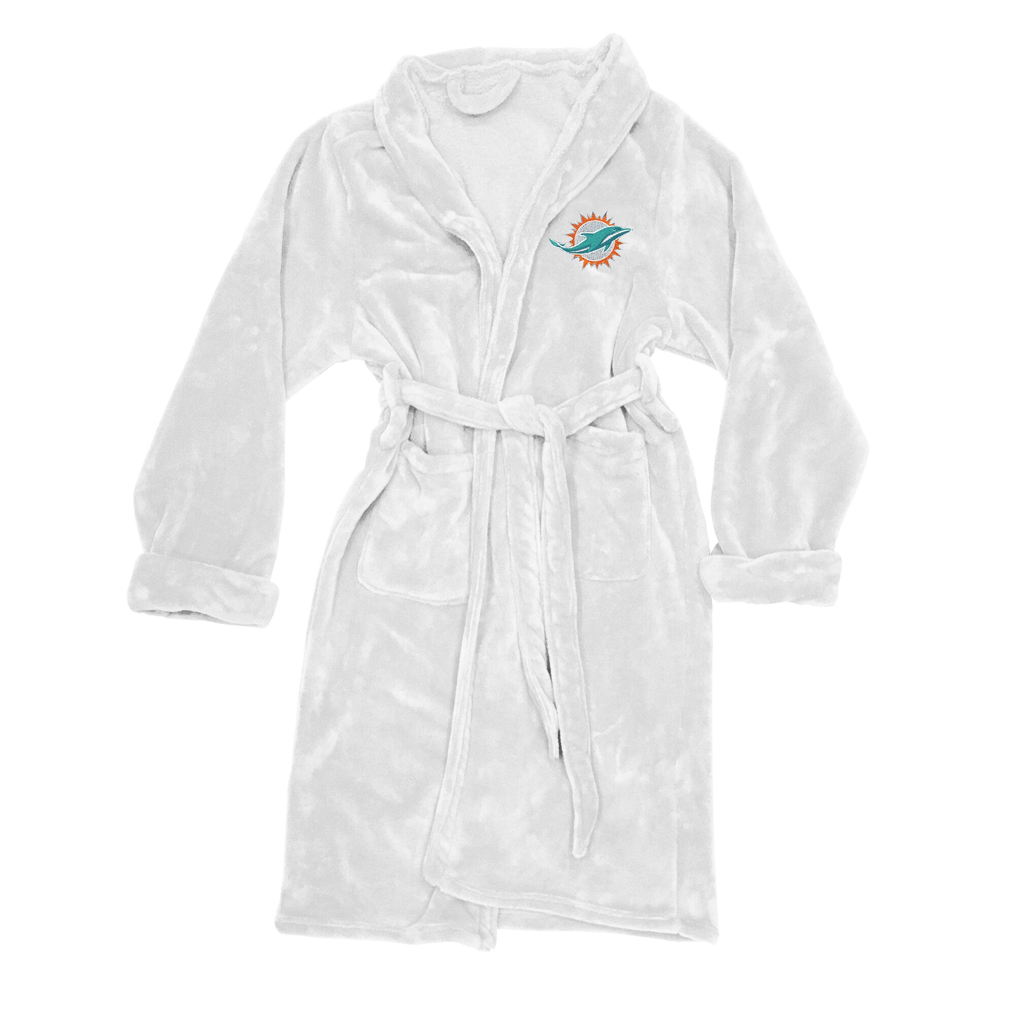 Miami Dolphins The Northwest Company Silk Touch Robe - White