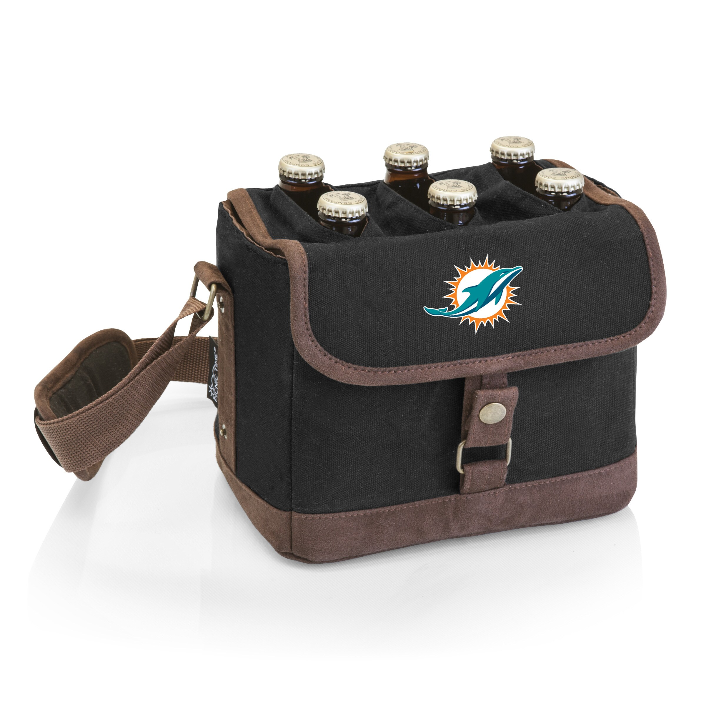 Miami Dolphins Beer Caddy Cooler Tote with Opener