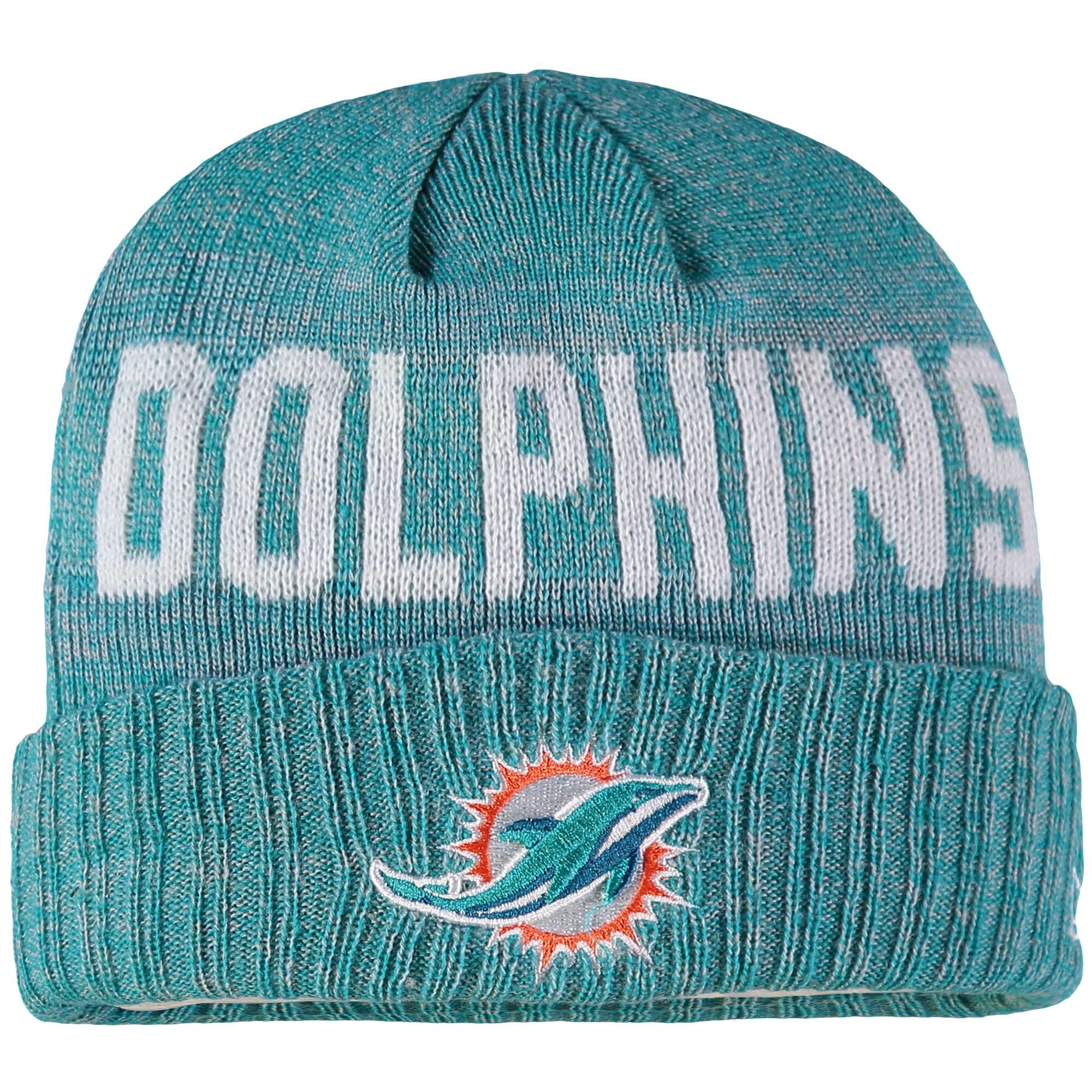 Miami Dolphins New Era Preschool & Toddler Crisp Color Knit Cuffed Hat - Aqua