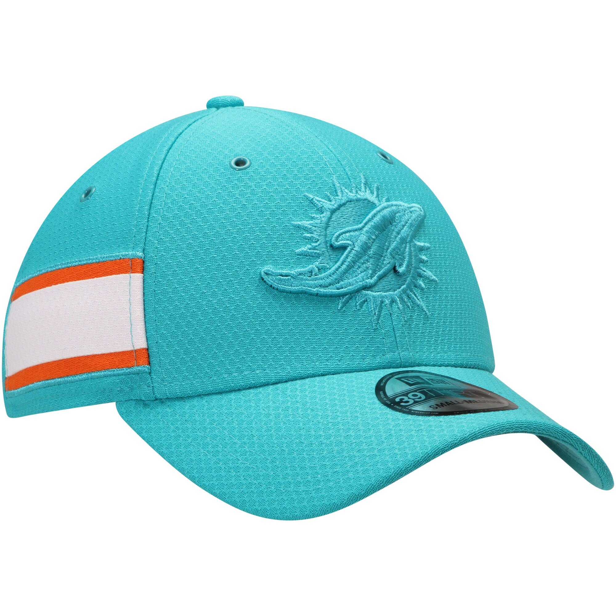 Miami Dolphins New Era Kickoff Reverse 39THIRTY Flex Hat - Aqua