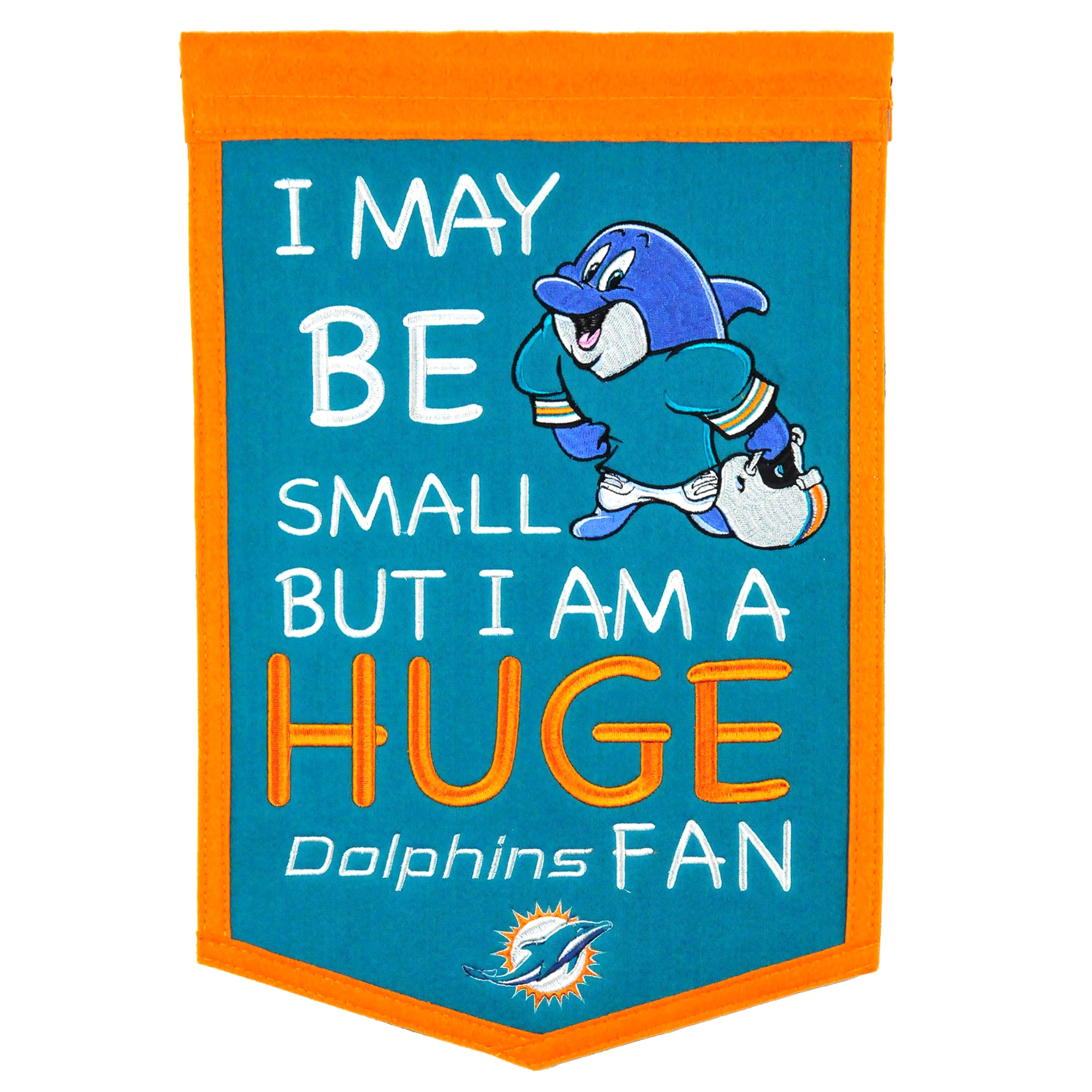 "Miami Dolphins 12"" x 18"" Lil Fan Traditions Banner"