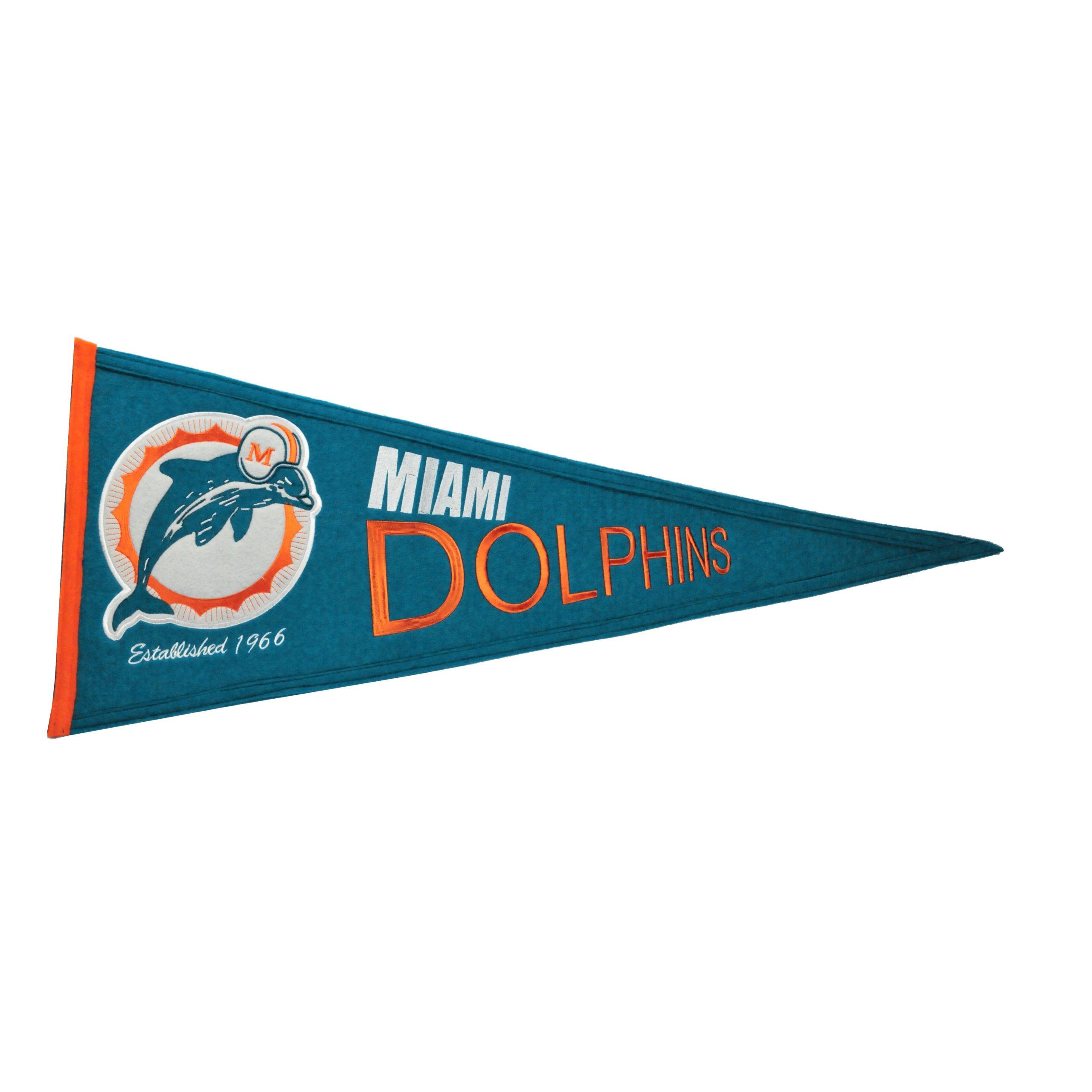 "Miami Dolphins 13"" x 32"" Throwback Pennant"