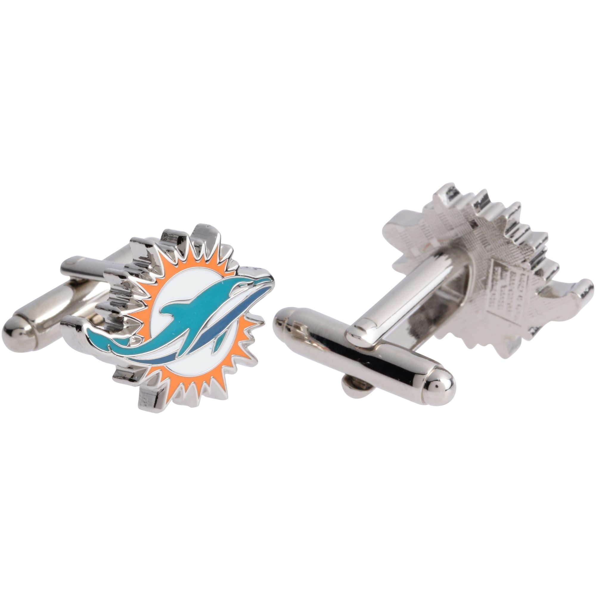 Miami Dolphins Logo Cufflinks