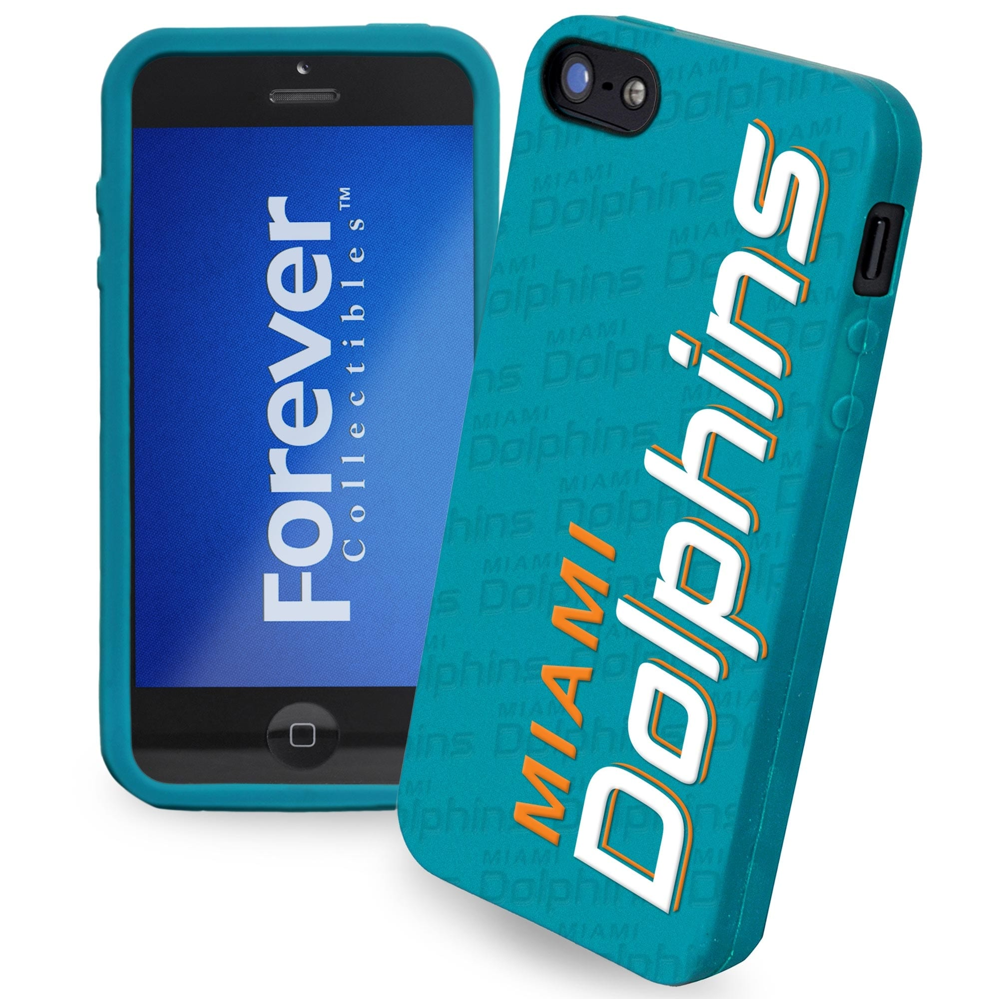 Miami Dolphins Silicone iPhone 5 Cover - Aqua