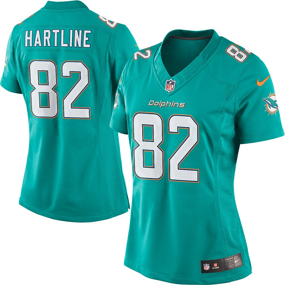 Brian Hartline Miami Dolphins Nike Women's Limited Jersey - Aqua