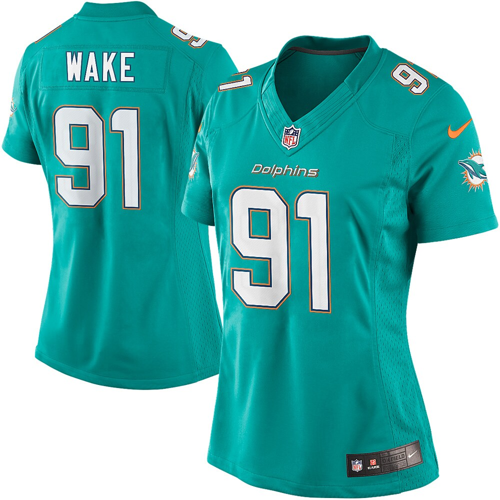 Cameron Wake Miami Dolphins Nike Women's Limited Jersey - Aqua