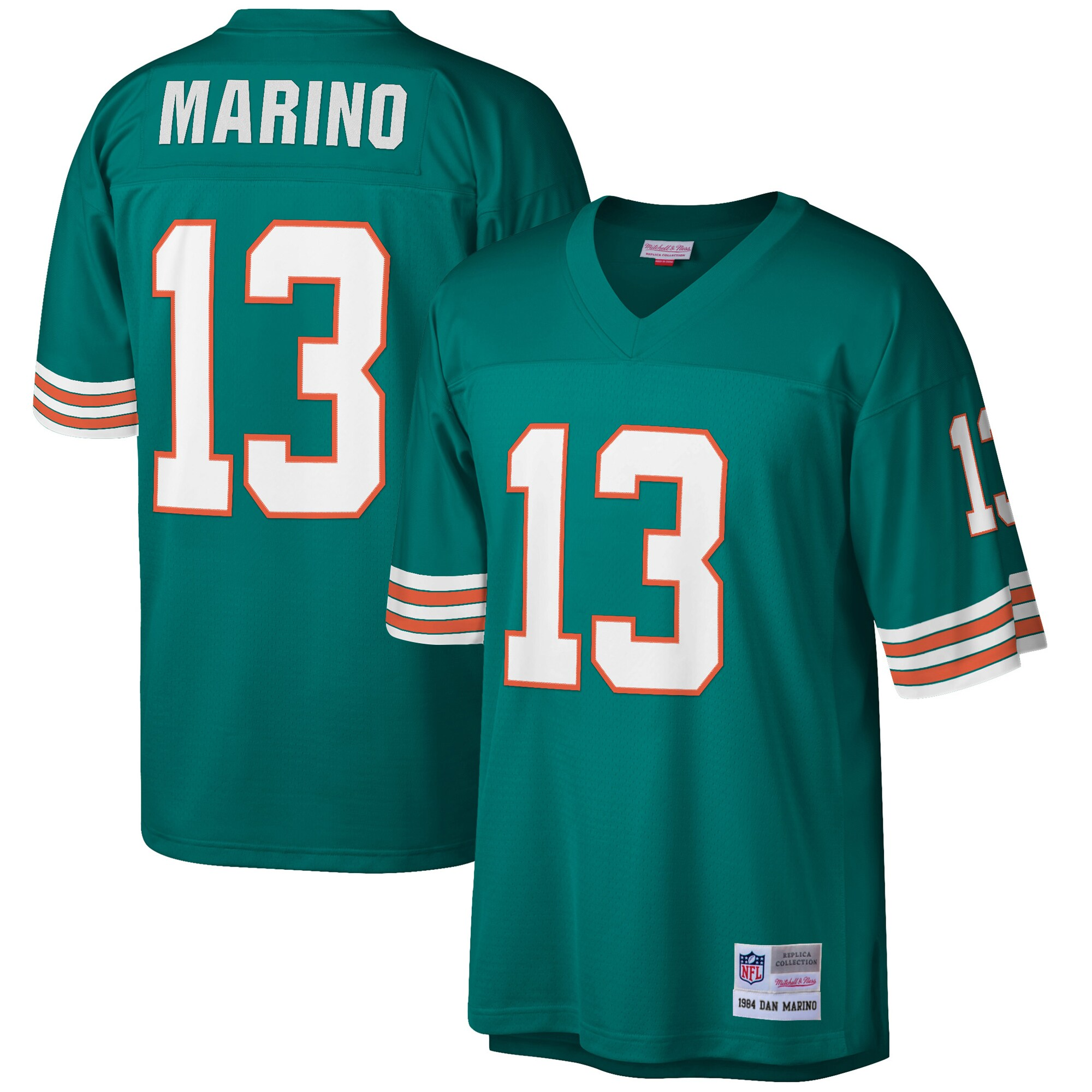 Dan Marino Miami Dolphins Mitchell & Ness Retired Player Legacy Replica Jersey - Aqua