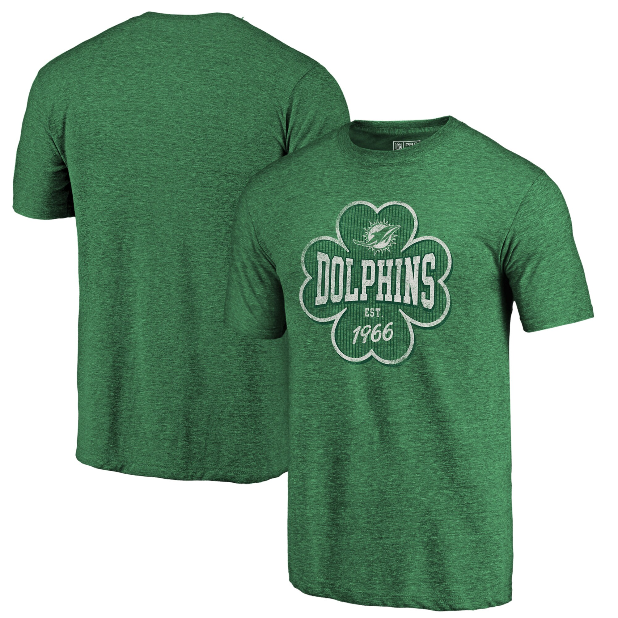 Miami Dolphins NFL Pro Line by Fanatics Branded Emerald Isle Tri-Blend T-Shirt - Kelly Green