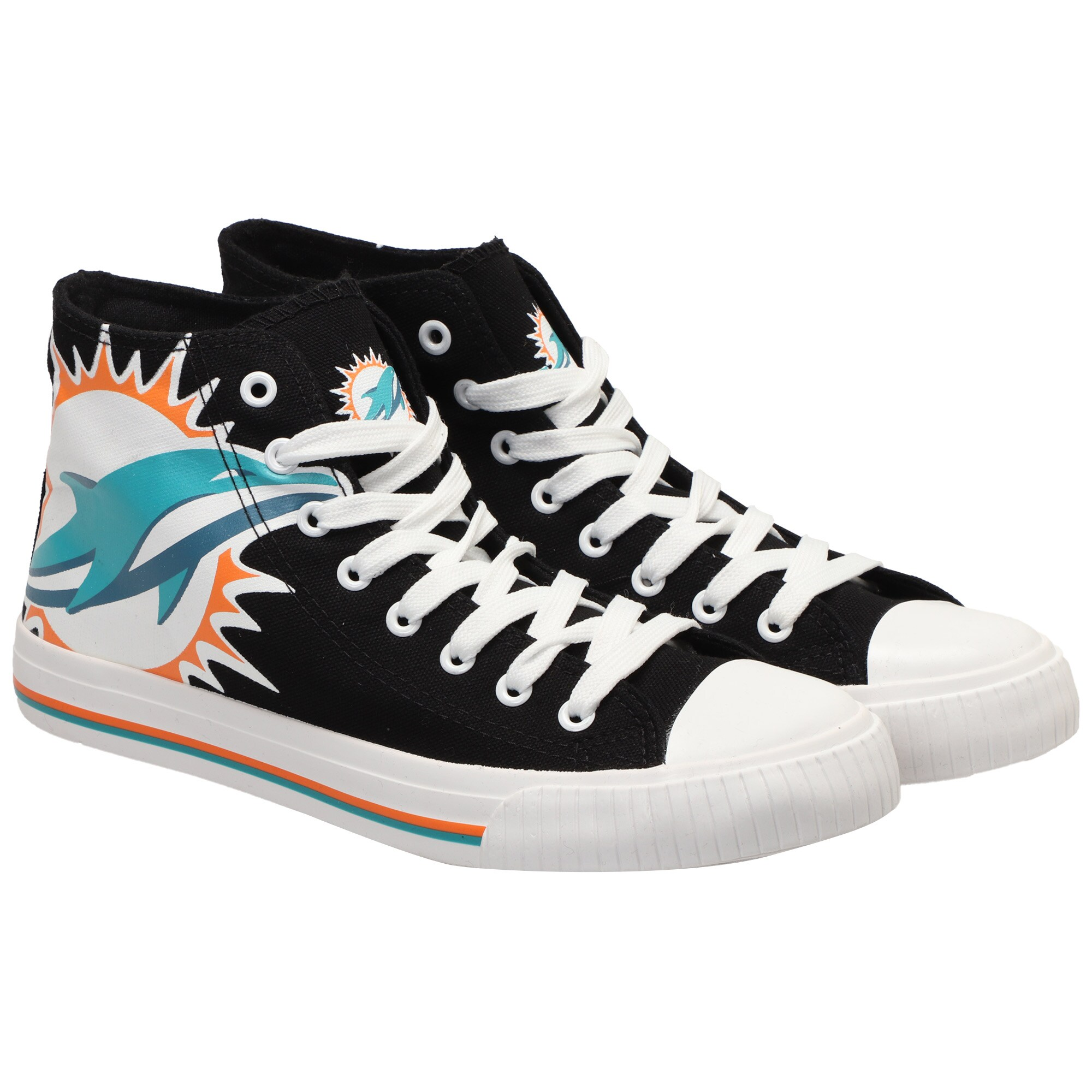 Miami Dolphins Big Logo High Top Sneakers