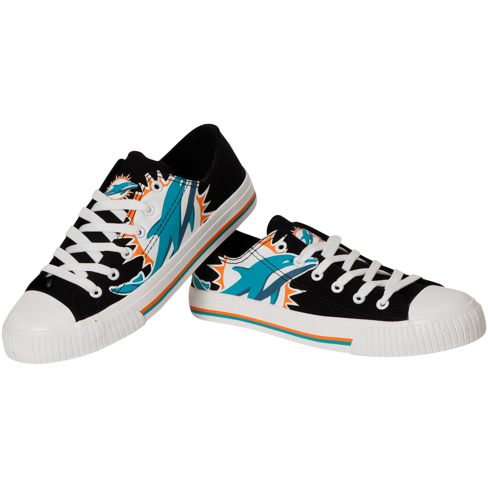 Miami Dolphins Big Logo Low Top Sneakers