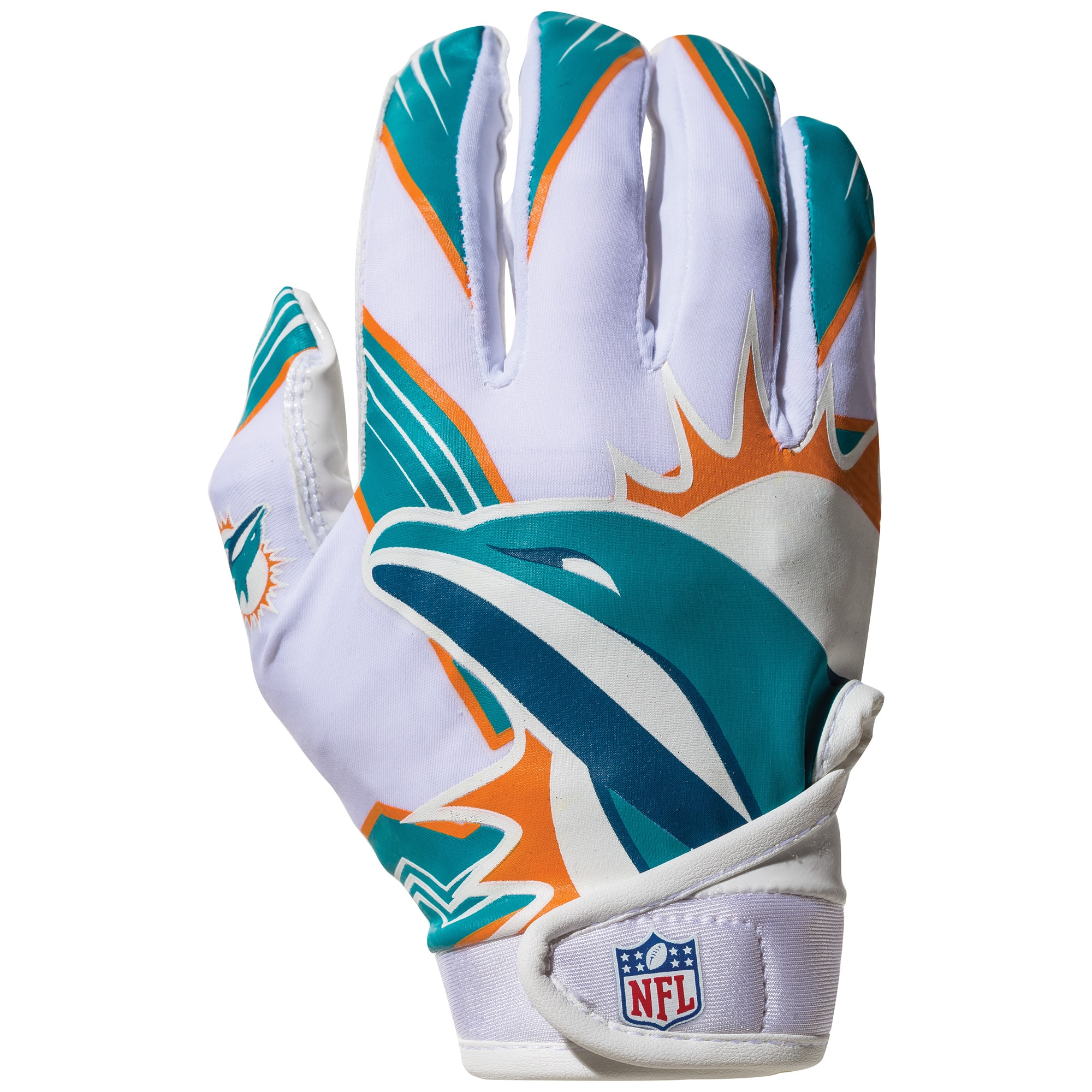 Miami Dolphins Franklin Sports Youth Receiver Gloves