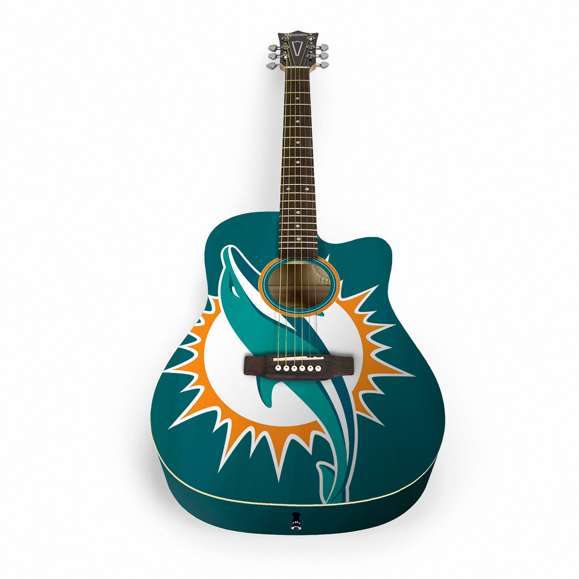 Miami Dolphins Woodrow Acoustic Guitar
