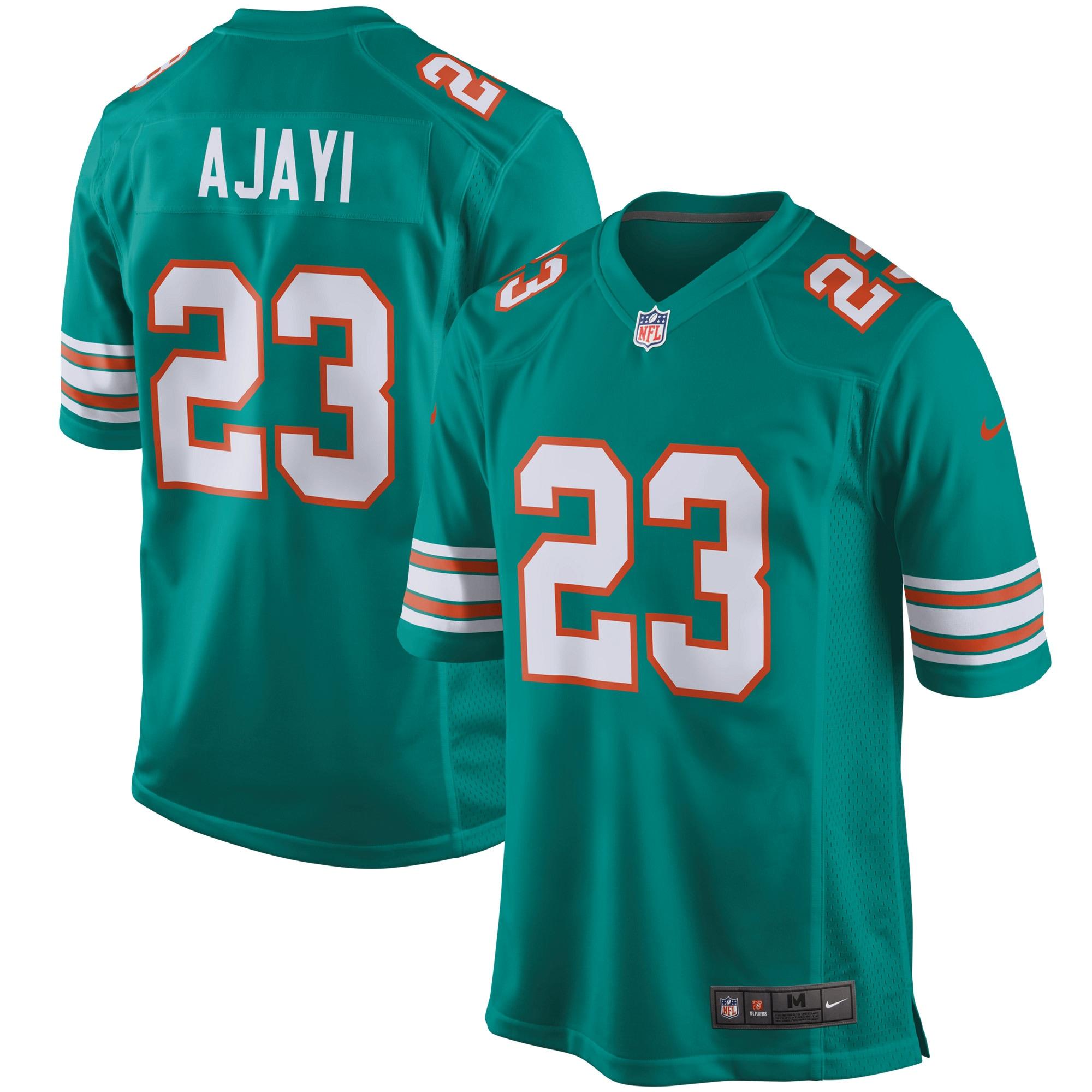 Jay Ajayi Miami Dolphins Nike Throwback Game Jersey - Aqua