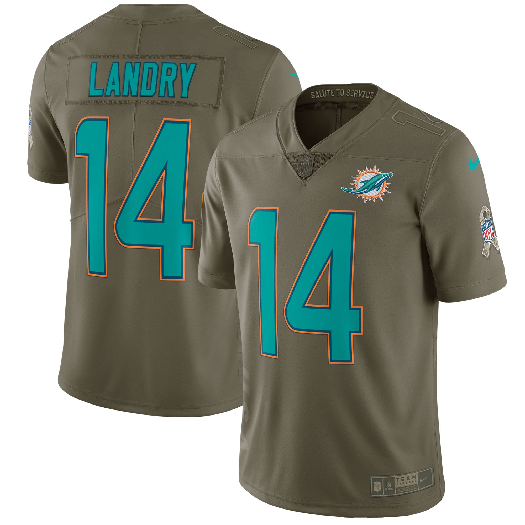 Jarvis Landry Miami Dolphins Nike Salute To Service Limited Jersey - Olive