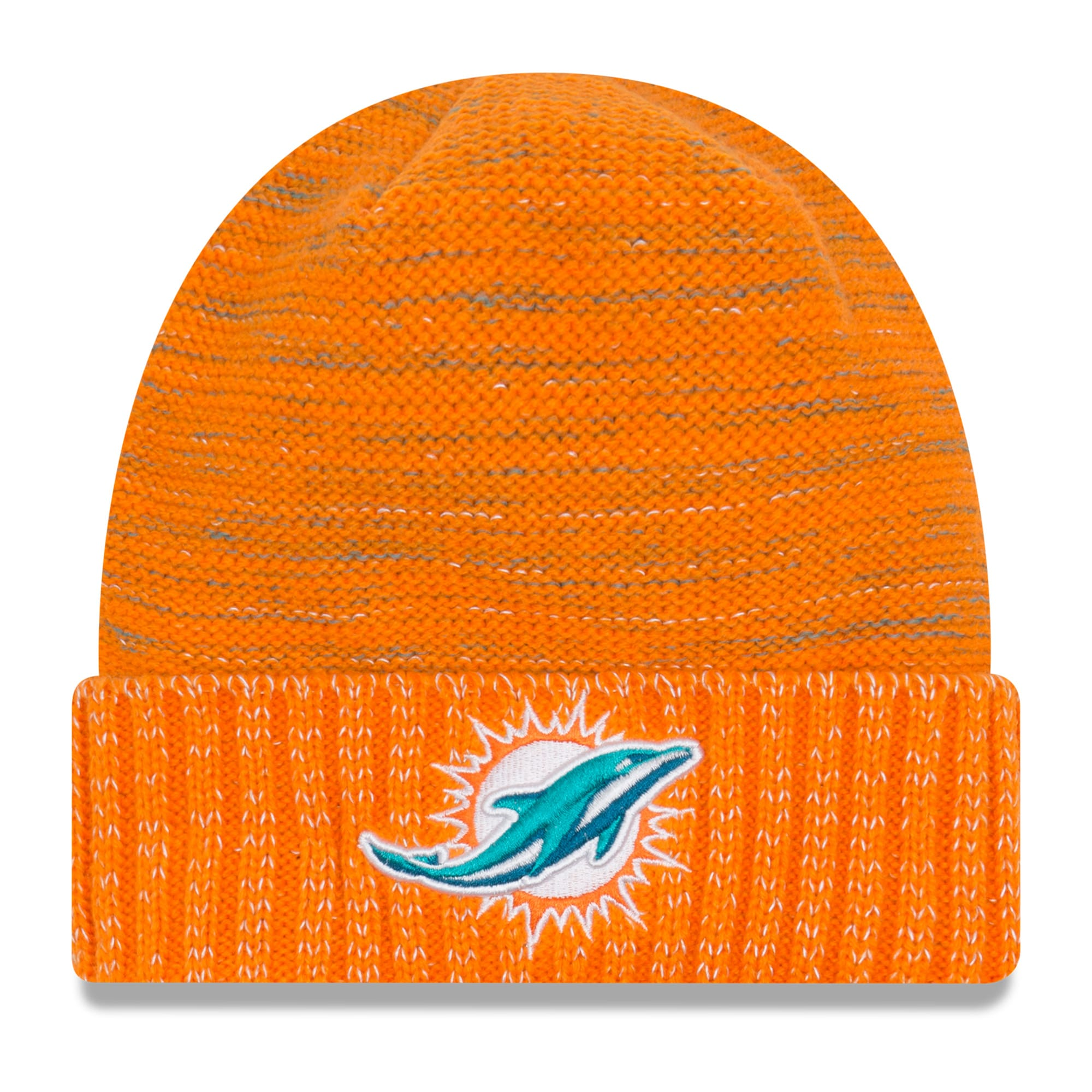 Miami Dolphins New Era 2017 Color Rush Knit Hat - Orange