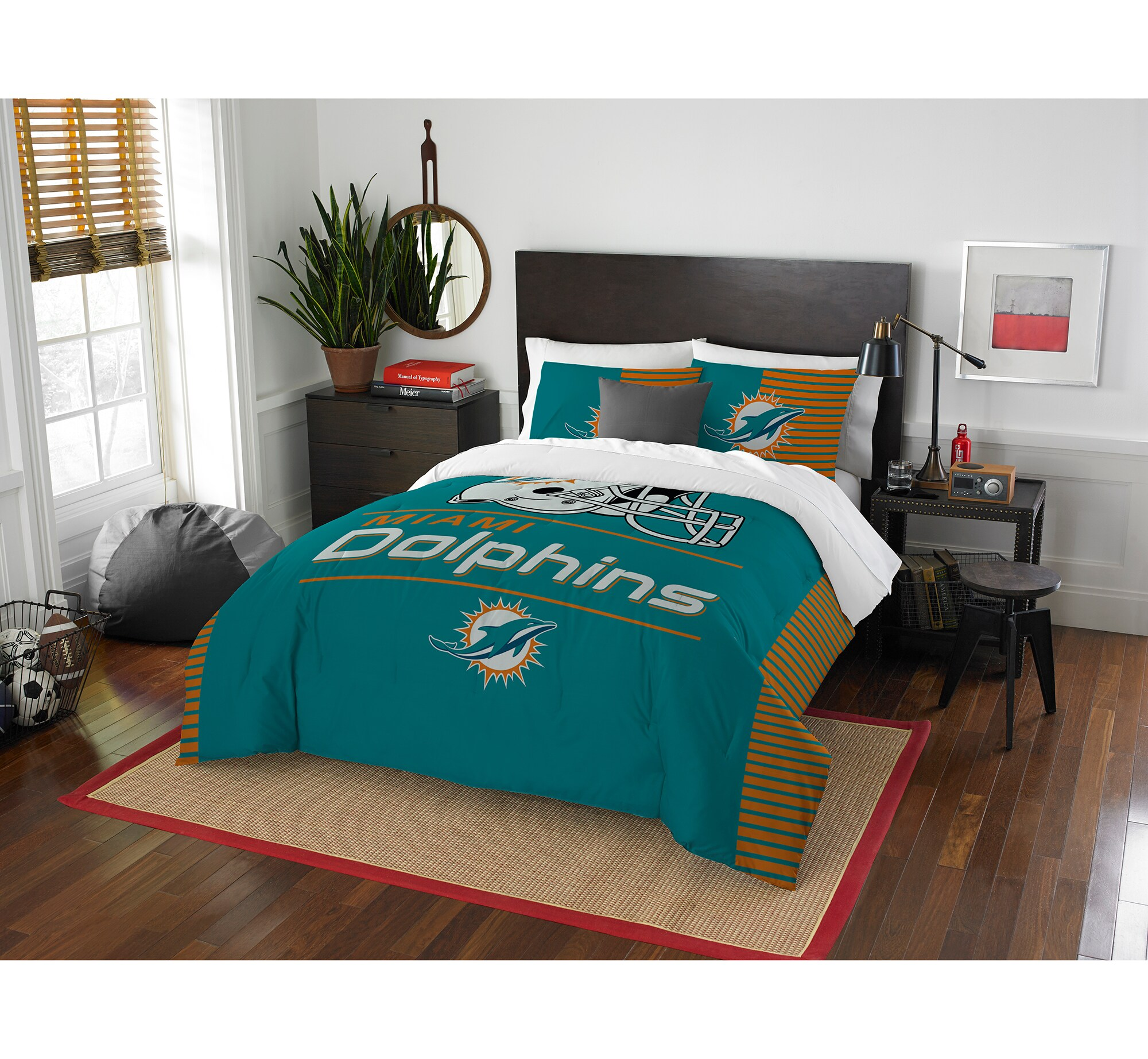 Miami Dolphins The Northwest Company NFL Draft Full/Queen Comforter Set