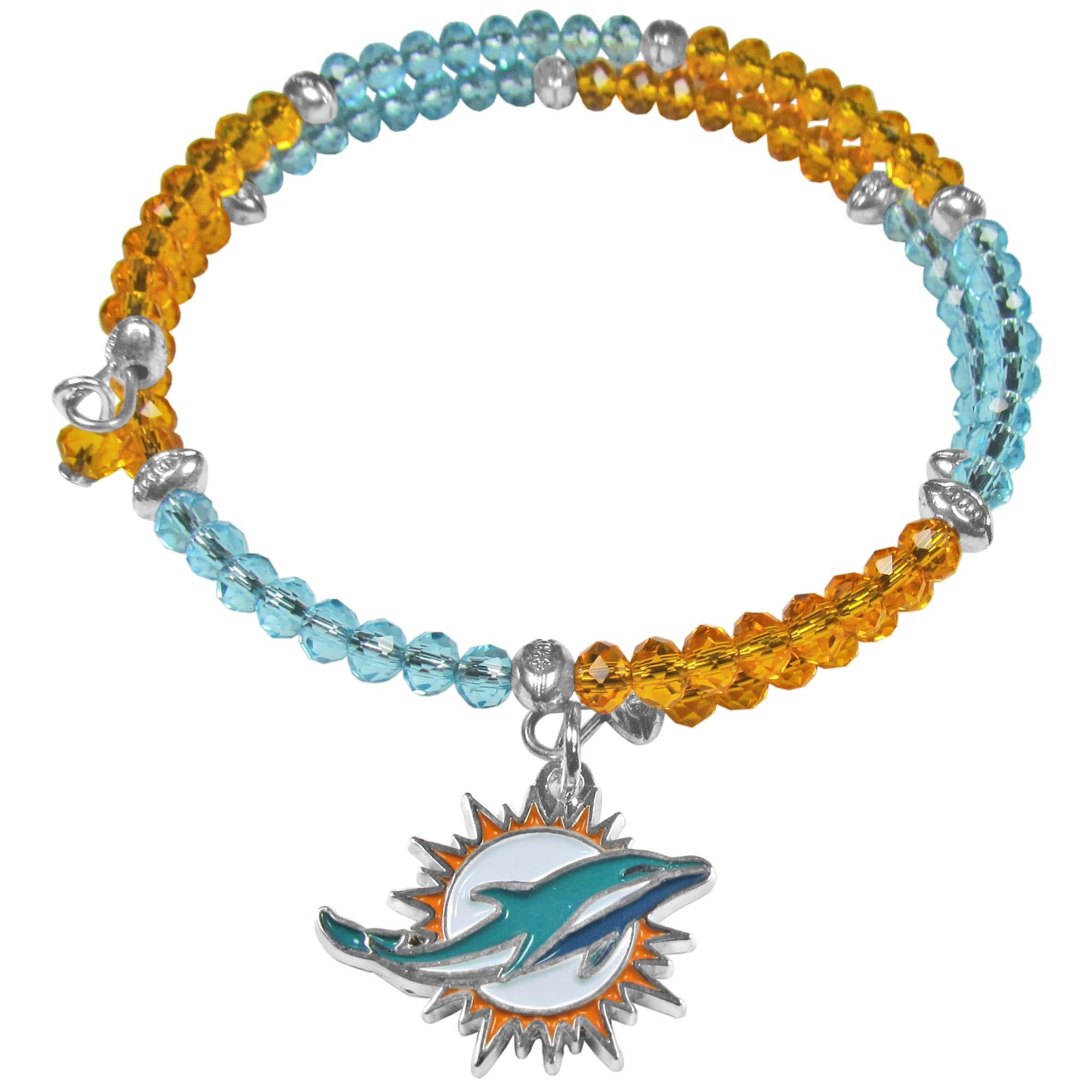 Miami Dolphins Women's 400 Degrees Crystal Bracelet