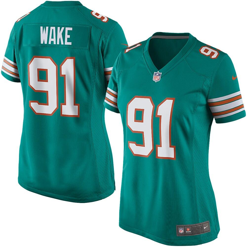 Cameron Wake Miami Dolphins Nike Women's Game Jersey - Aqua