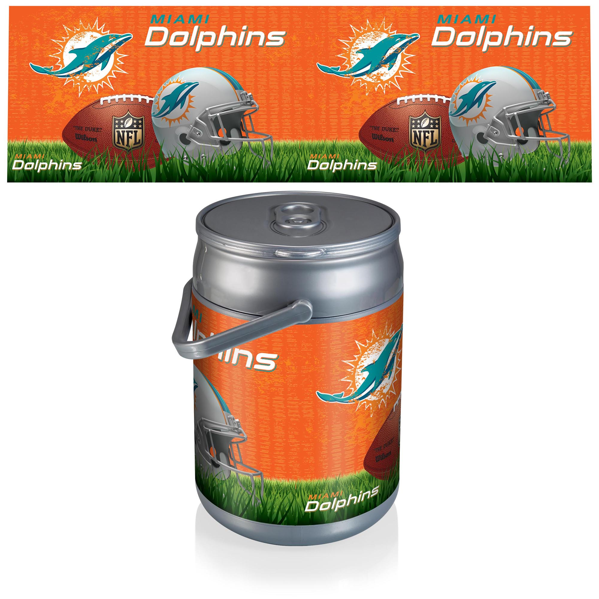 Miami Dolphins Football Can Cooler