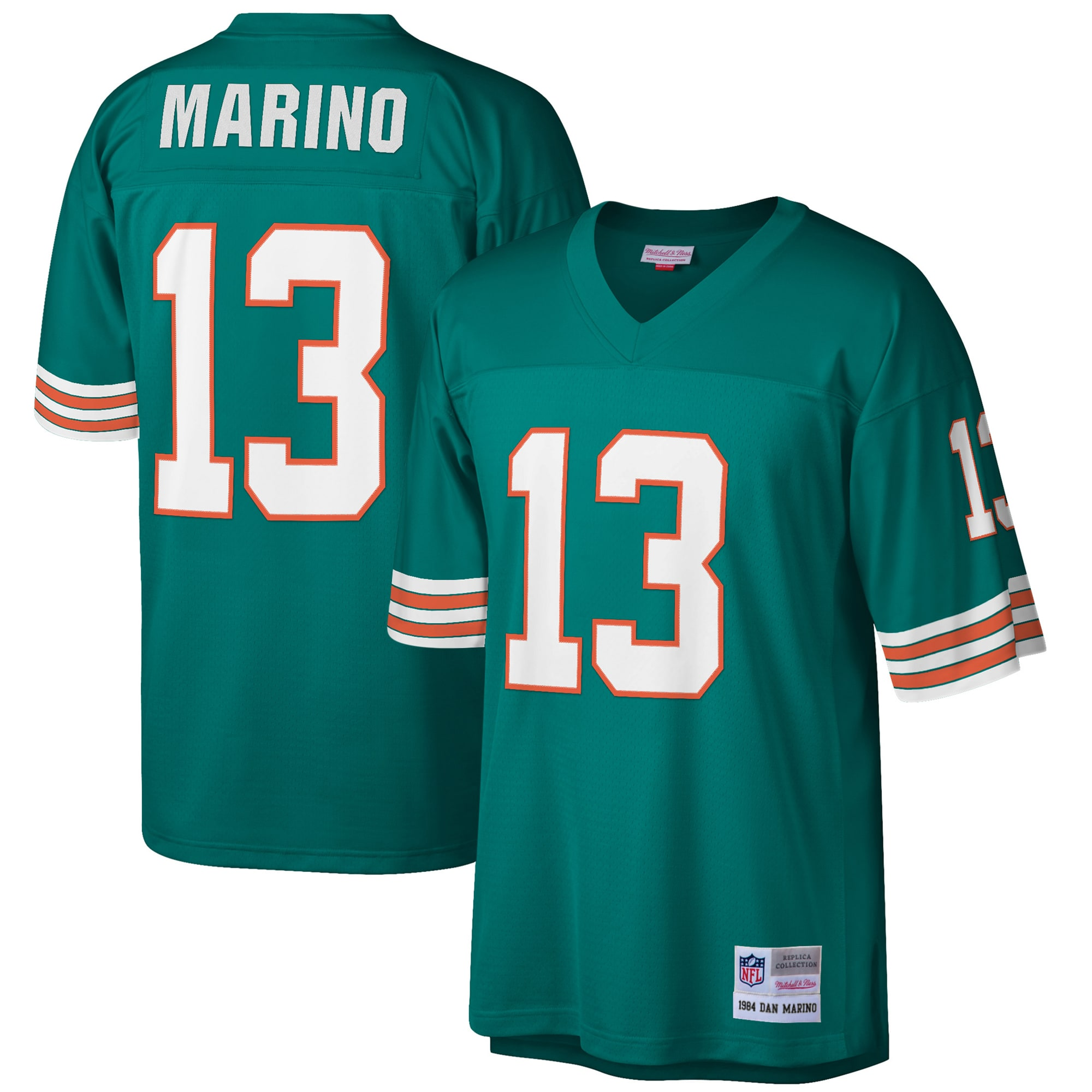 Dan Marino Miami Dolphins Mitchell & Ness Big & Tall 1984 Retired Player Replica Jersey - Aqua