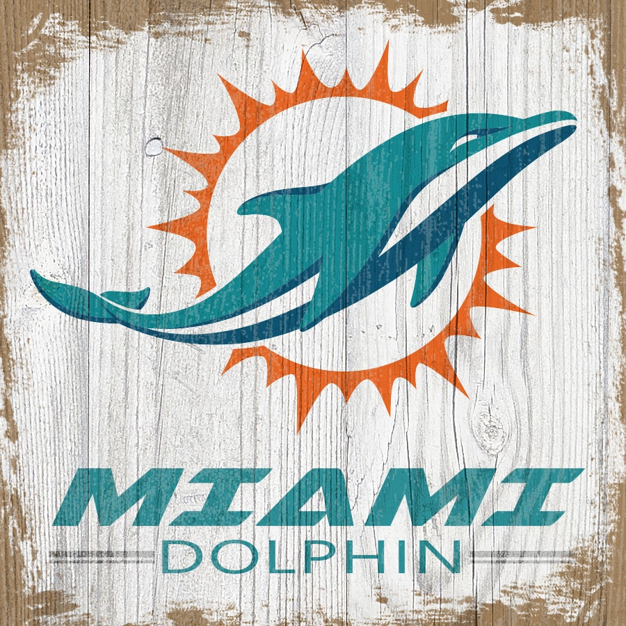 Miami Dolphins 6'' x 6'' Team Logo Block