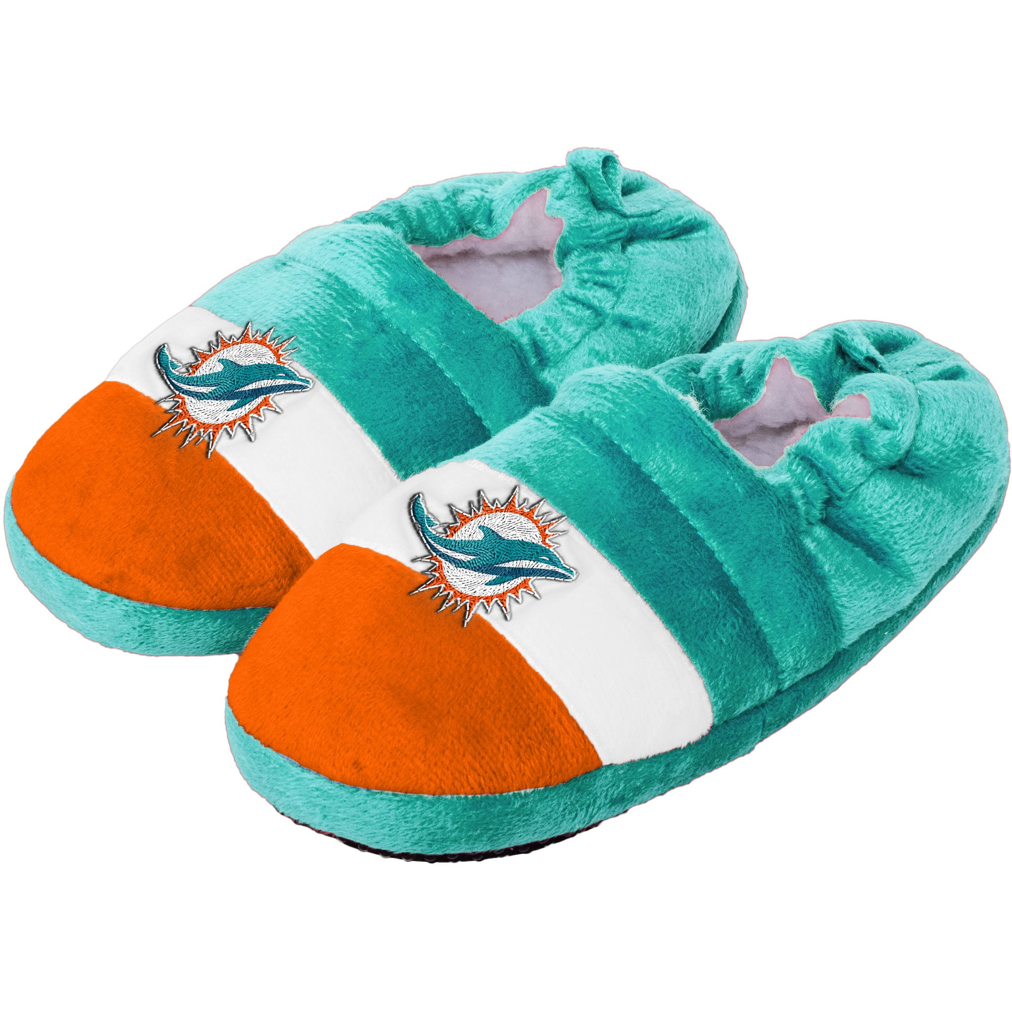 Miami Dolphins Toddler Color Block Close Back Slippers