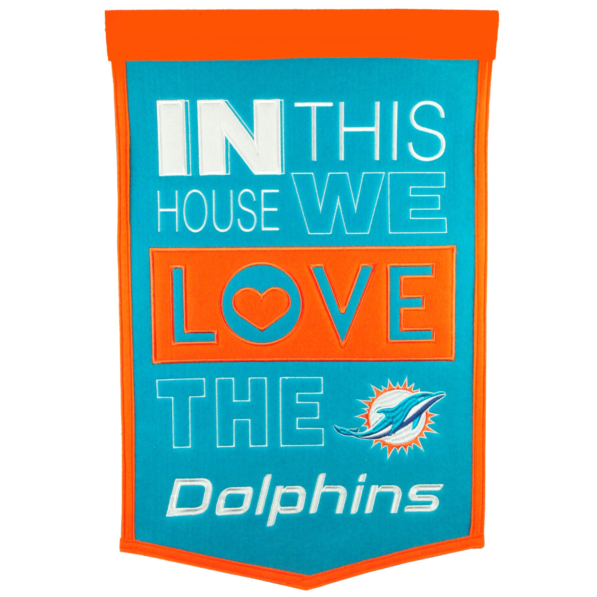 Miami Dolphins 15'' x 24'' Home Banner