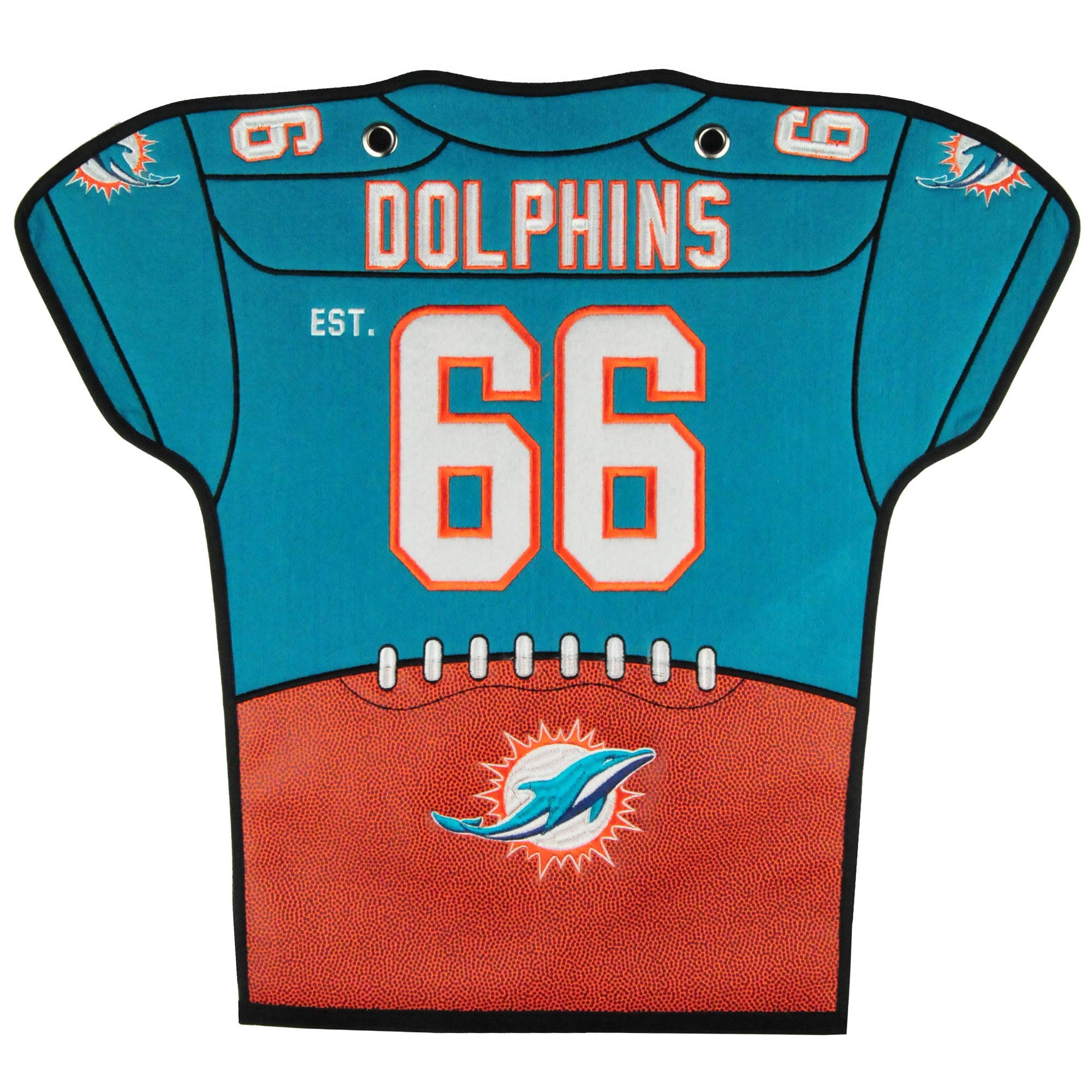 Miami Dolphins 20'' x 18'' Jersey Traditions Banner