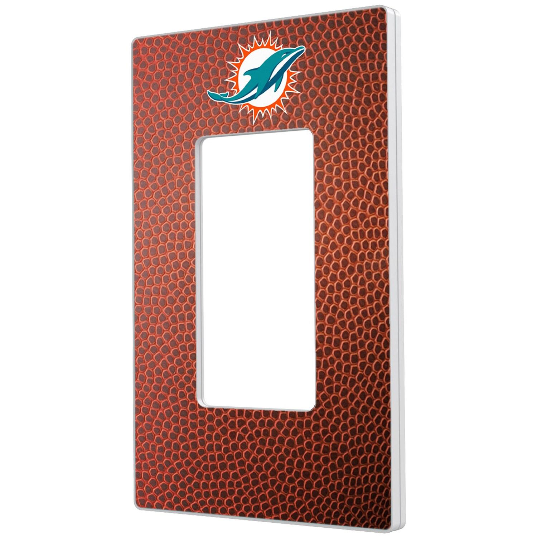 Miami Dolphins Football Design Single Rocker Light Switch Plate