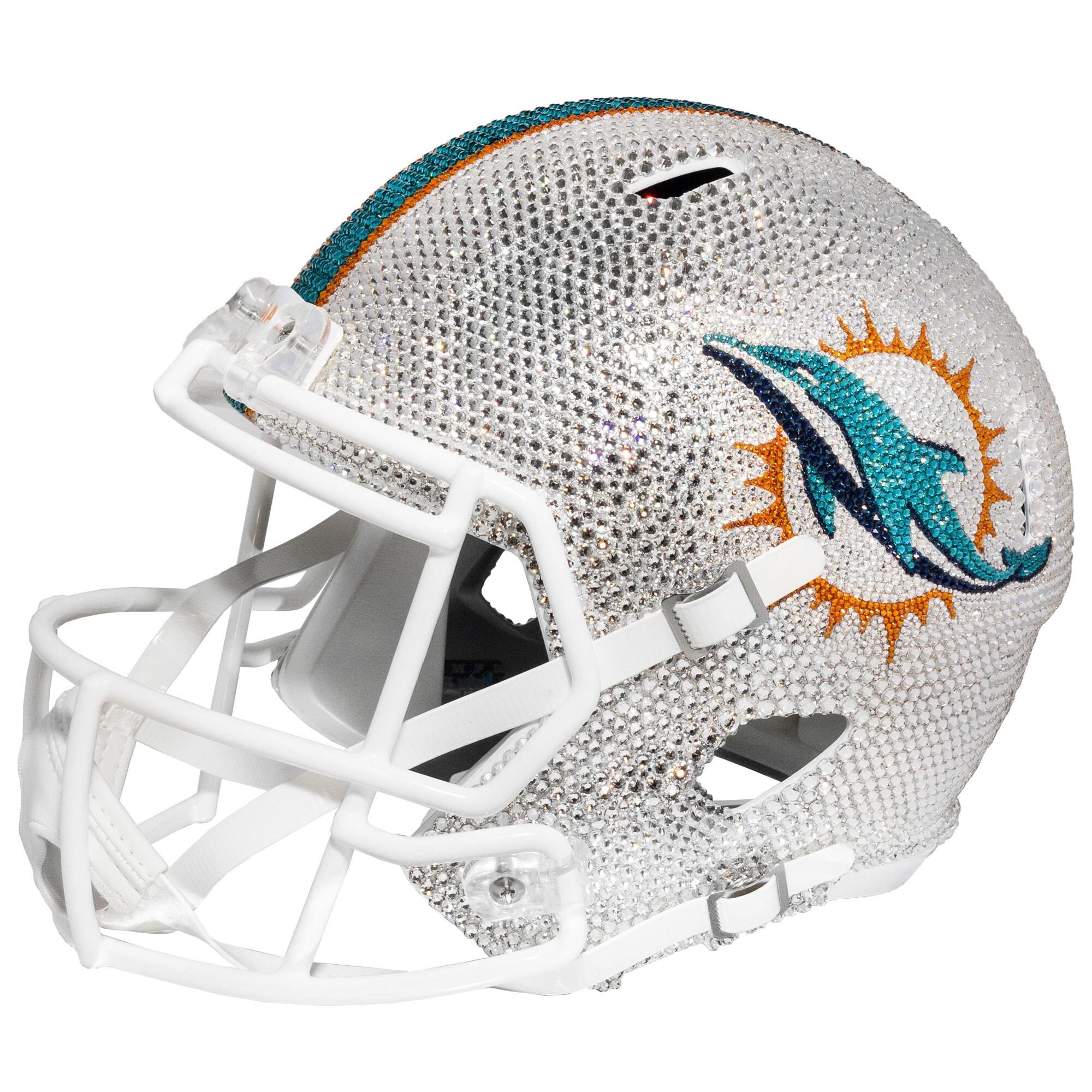 Miami Dolphins Swarovski Crystal Large Football Helmet