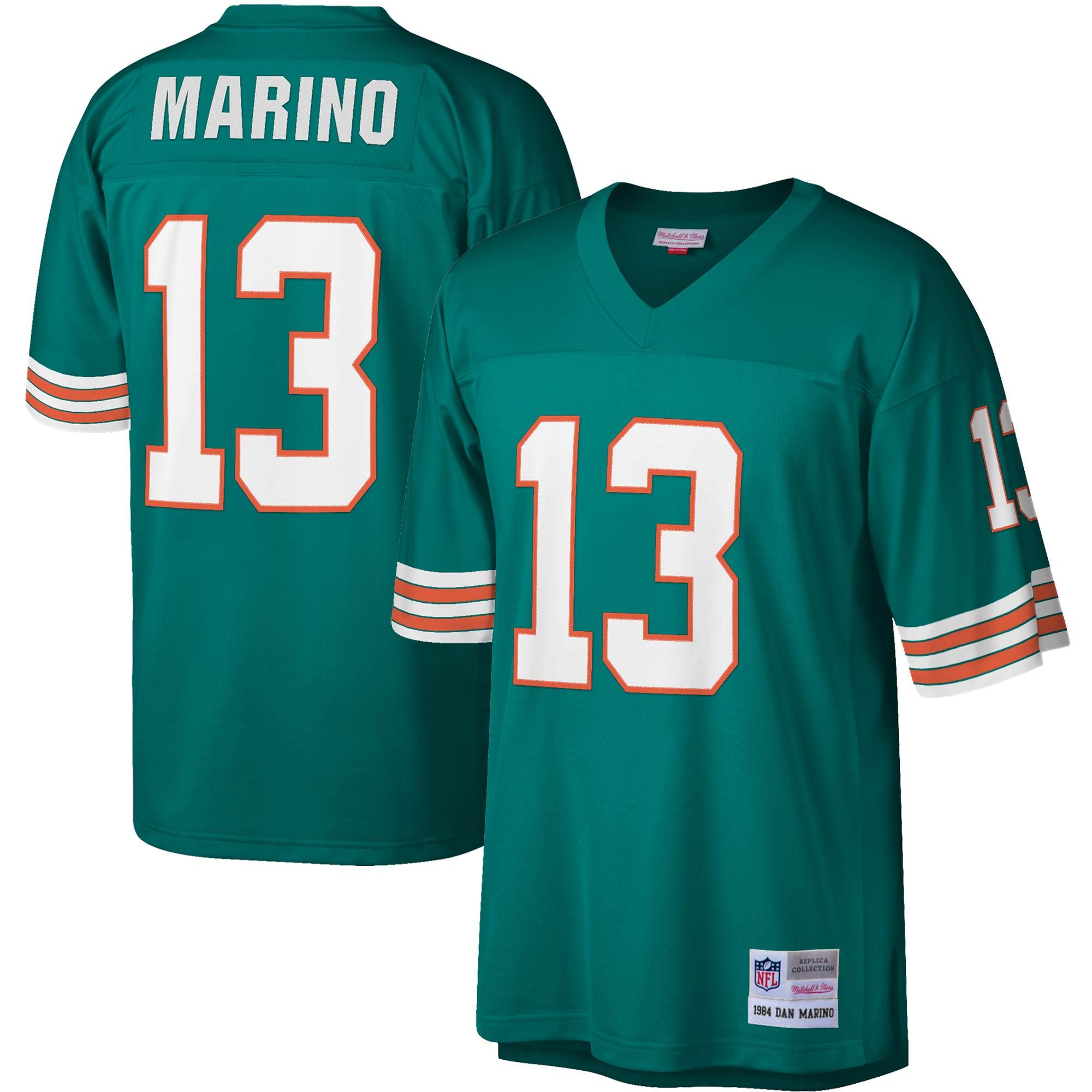 Dan Marino Miami Dolphins Mitchell & Ness Legacy Replica Jersey - Aqua