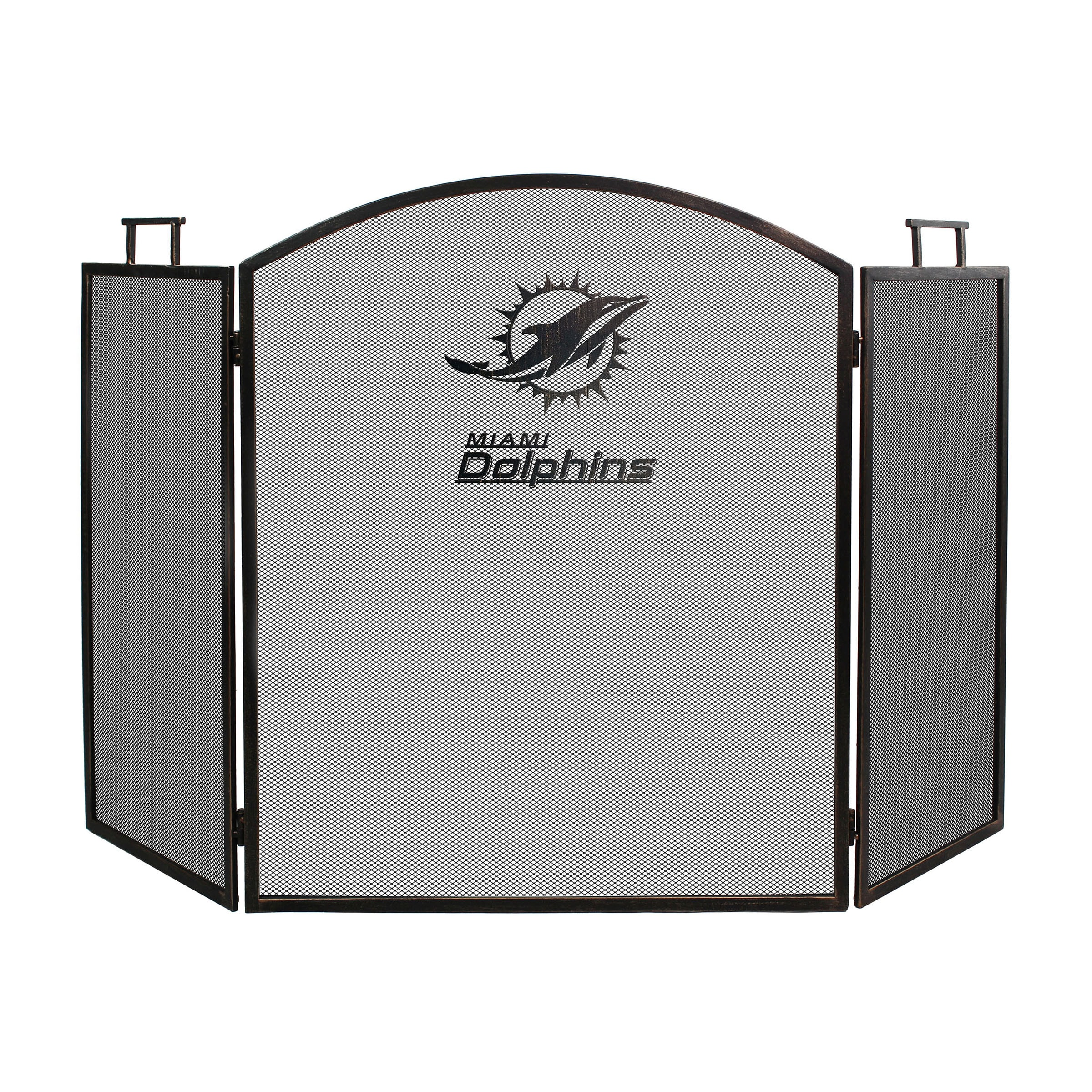 Miami Dolphins Imperial Fireplace Screen - Brown